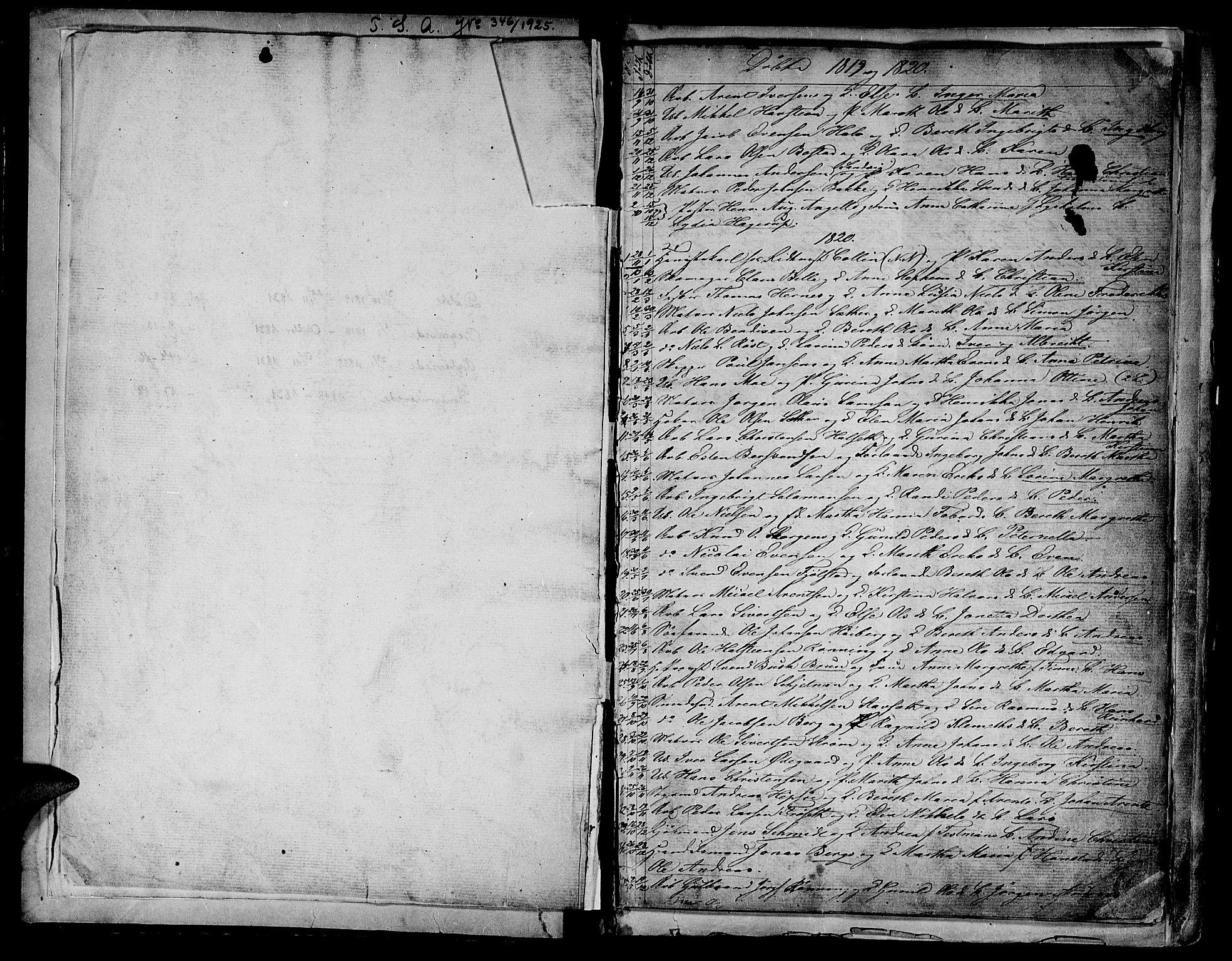 SAT, Ministerialprotokoller, klokkerbøker og fødselsregistre - Sør-Trøndelag, 604/L0182: Ministerialbok nr. 604A03, 1818-1850, s. 1