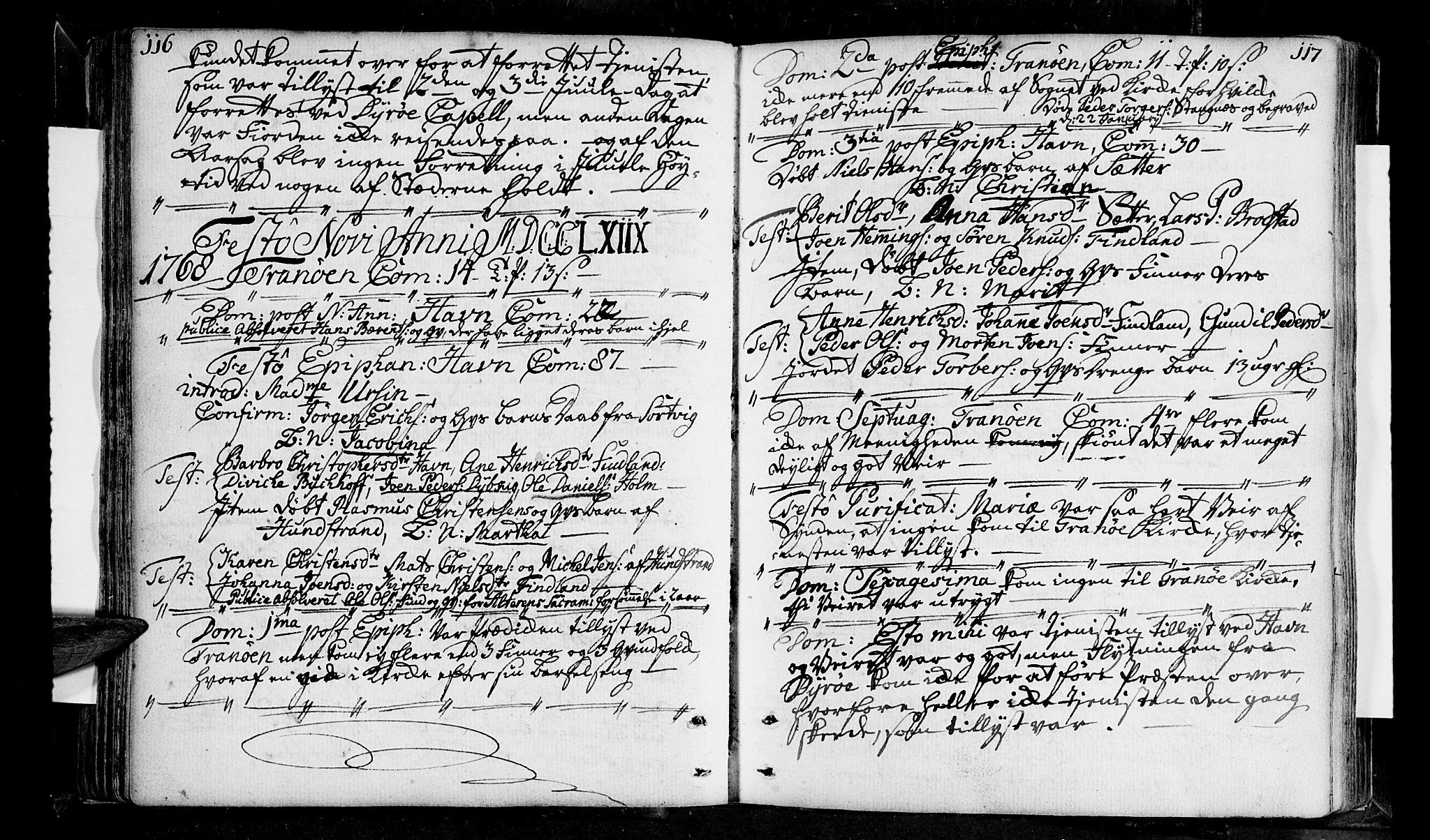 SATØ, Tranøy sokneprestkontor, I/Ia/Iaa/L0001kirke: Ministerialbok nr. 1, 1757-1773, s. 116-117
