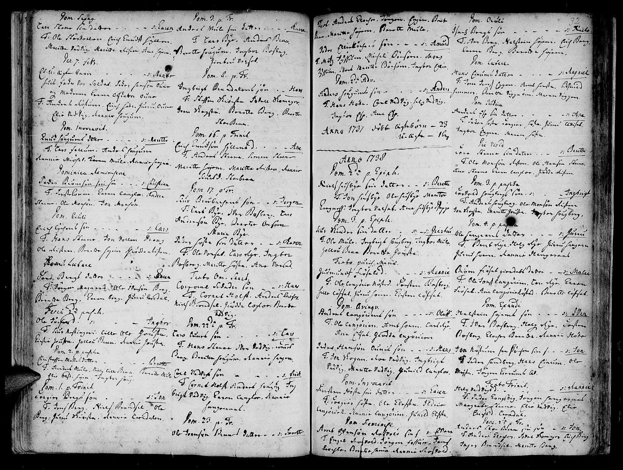 SAT, Ministerialprotokoller, klokkerbøker og fødselsregistre - Sør-Trøndelag, 612/L0368: Ministerialbok nr. 612A02, 1702-1753, s. 32