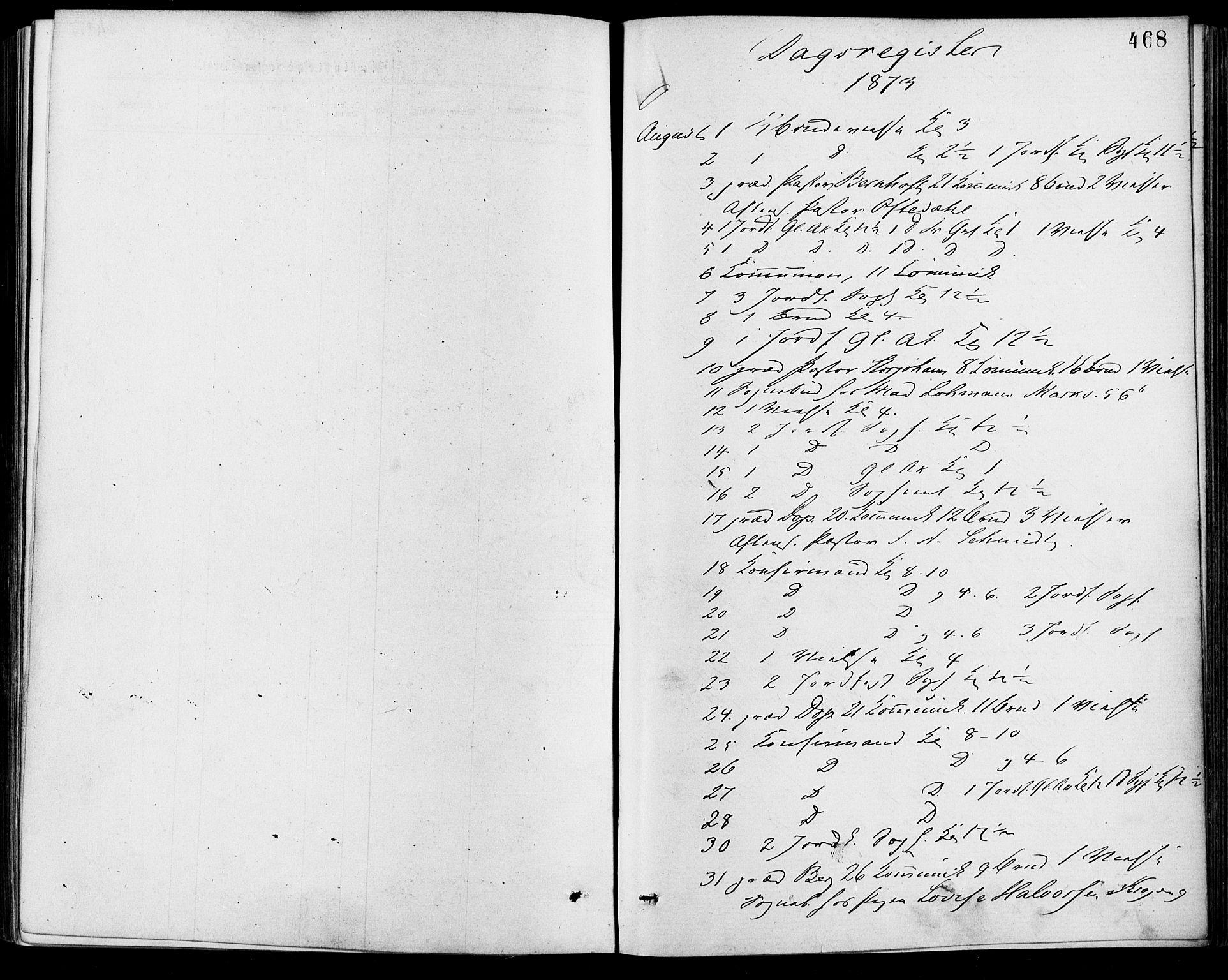 SAO, Gamle Aker prestekontor Kirkebøker, F/L0005: Ministerialbok nr. 5, 1873-1881, s. 468