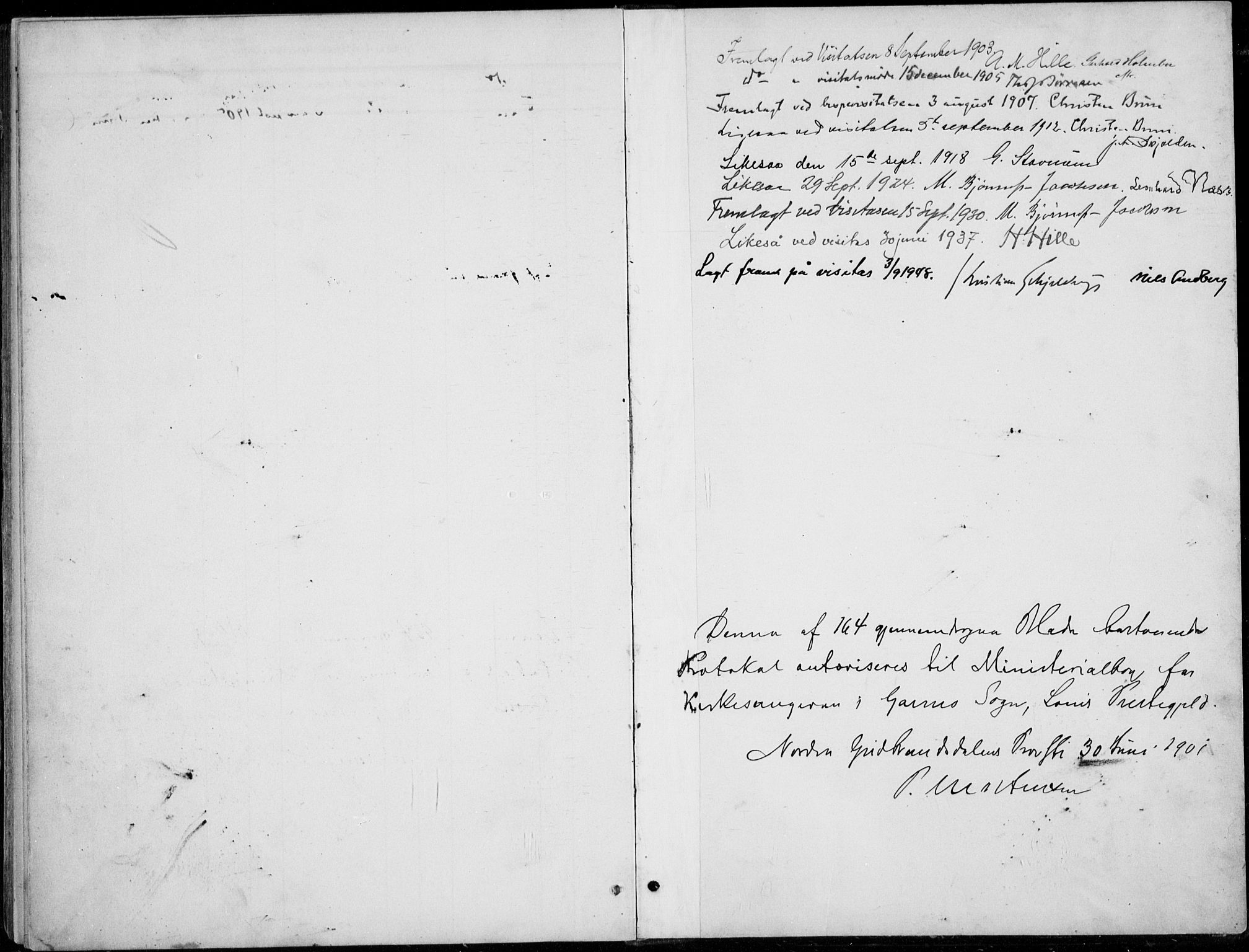 SAH, Lom prestekontor, L/L0006: Klokkerbok nr. 6, 1901-1939