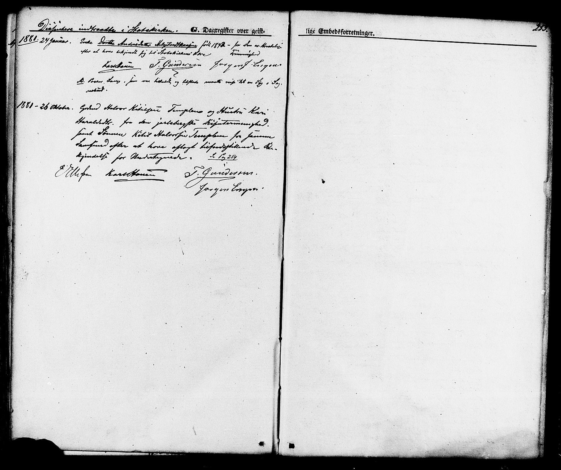 SAKO, Lunde kirkebøker, F/Fa/L0001: Ministerialbok nr. I 1, 1866-1883, s. 253