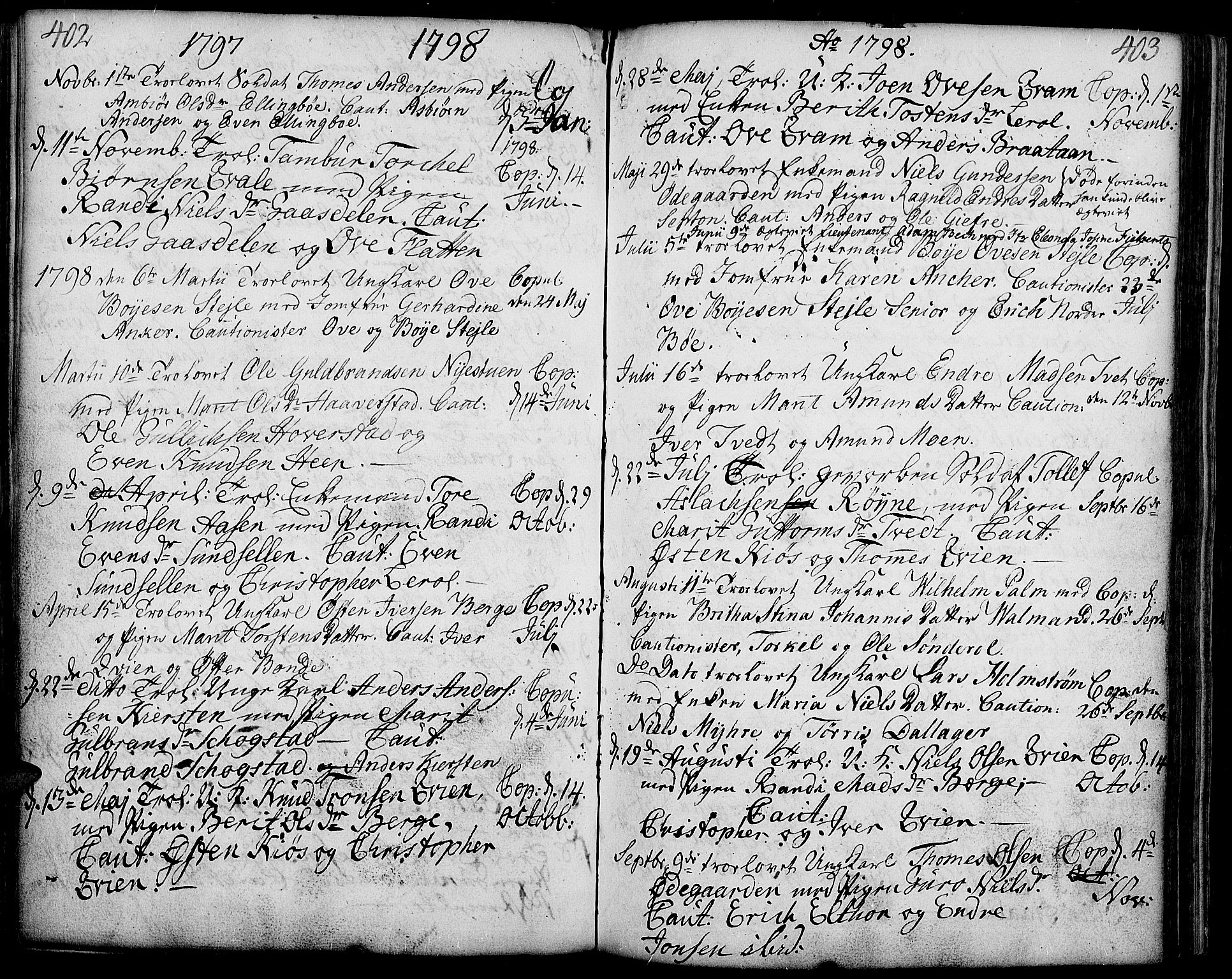 SAH, Vang prestekontor, Valdres, Ministerialbok nr. 2, 1796-1808, s. 402-403