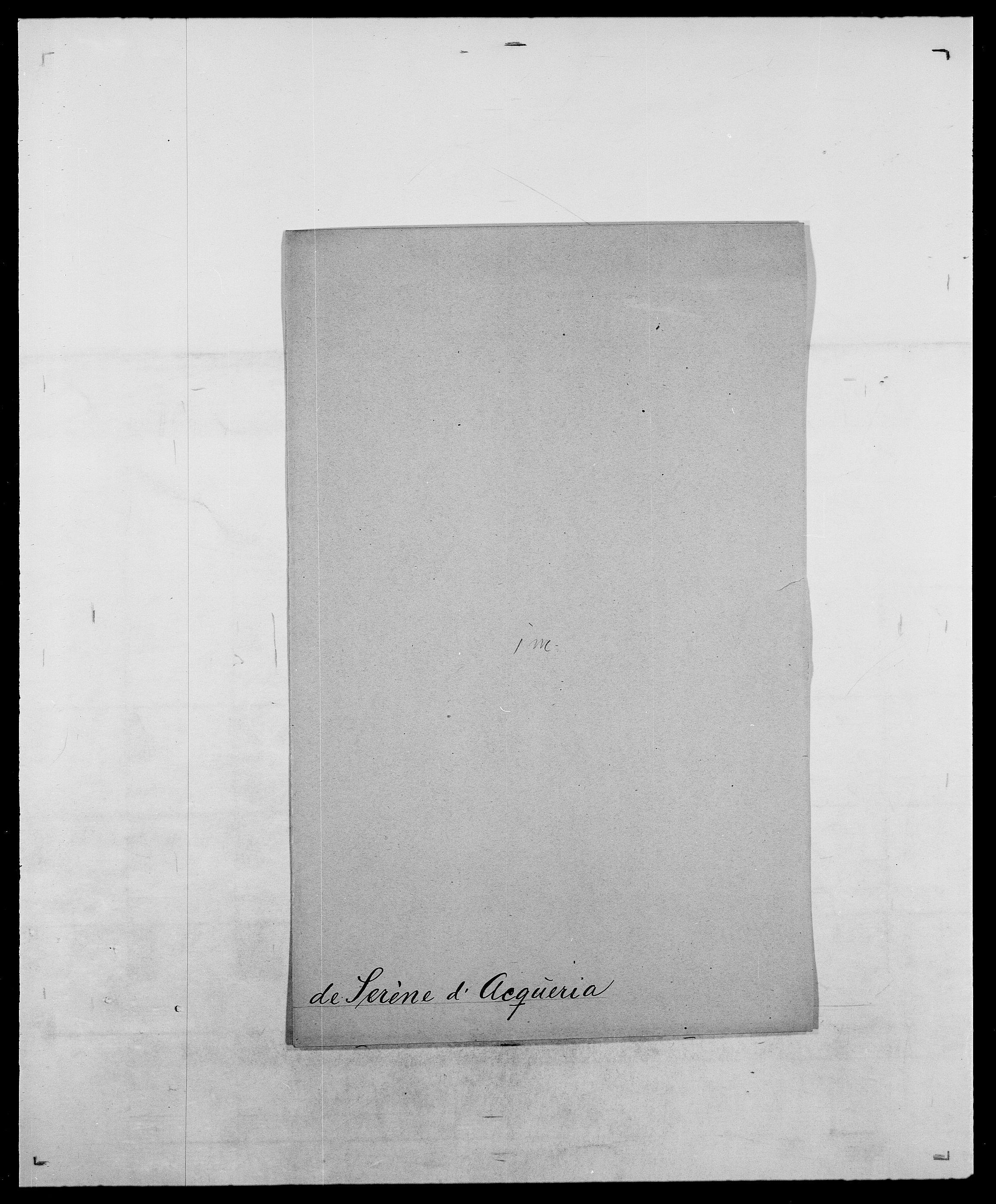 SAO, Delgobe, Charles Antoine - samling, D/Da/L0035: Schnabel - sjetman, s. 717