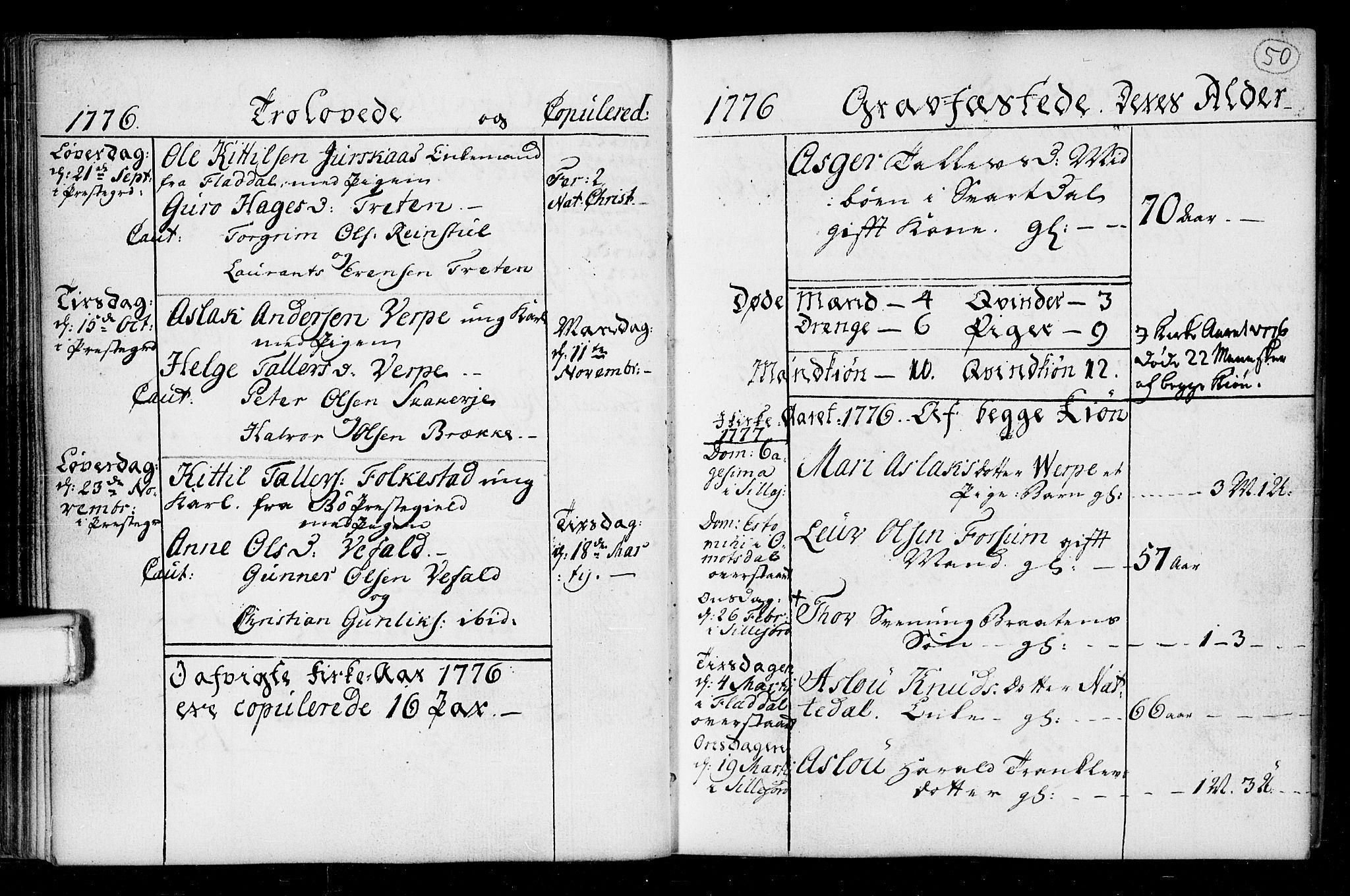SAKO, Seljord kirkebøker, F/Fa/L0008: Ministerialbok nr. I 8, 1755-1814, s. 50