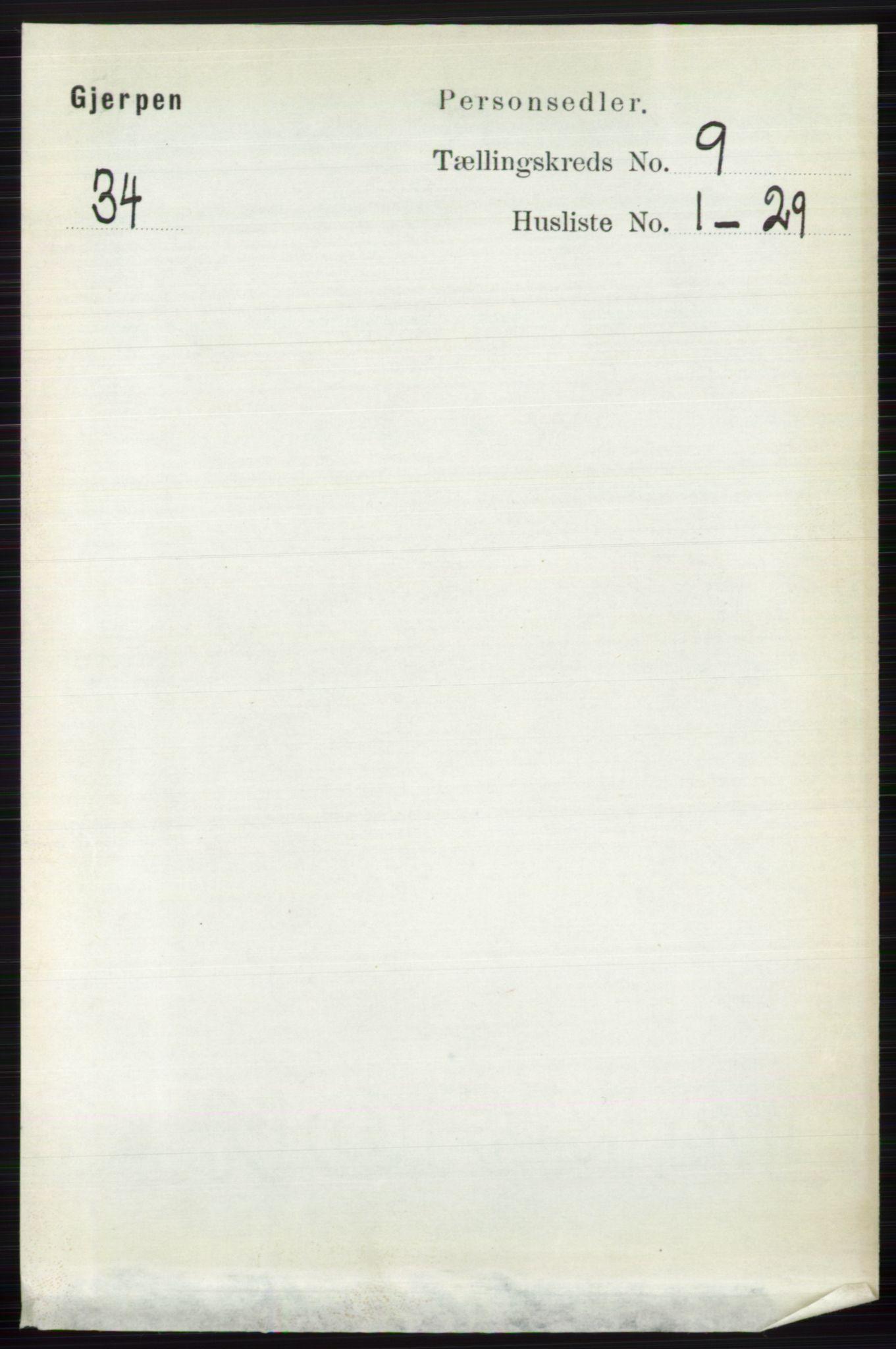 RA, Folketelling 1891 for 0812 Gjerpen herred, 1891, s. 4973