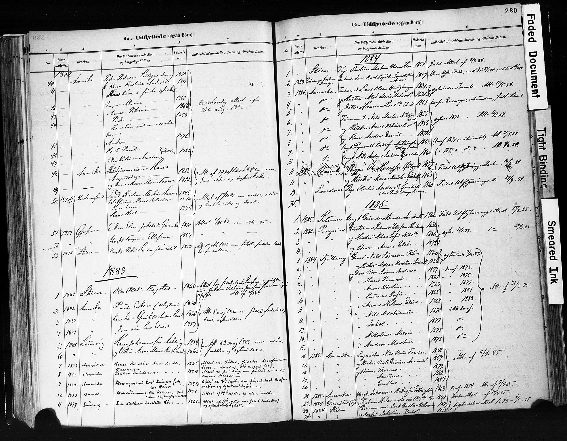 SAKO, Eidanger kirkebøker, F/Fa/L0012: Ministerialbok nr. 12, 1879-1900, s. 230