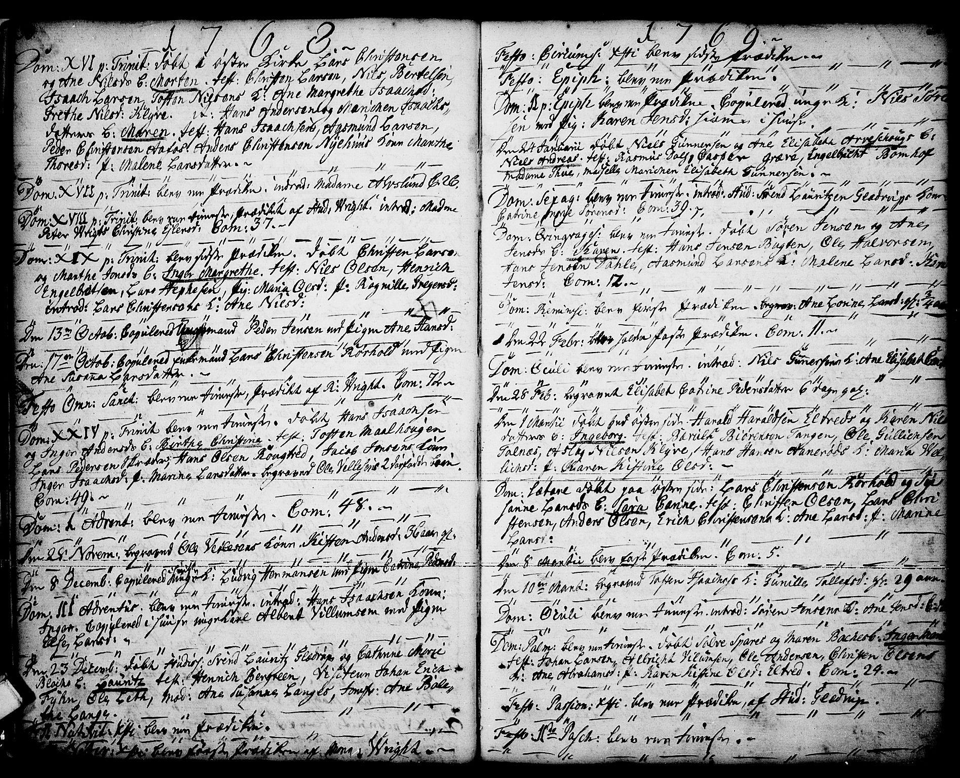SAKO, Porsgrunn kirkebøker , F/Fa/L0001: Ministerialbok nr. 1, 1764-1814, s. 30-31
