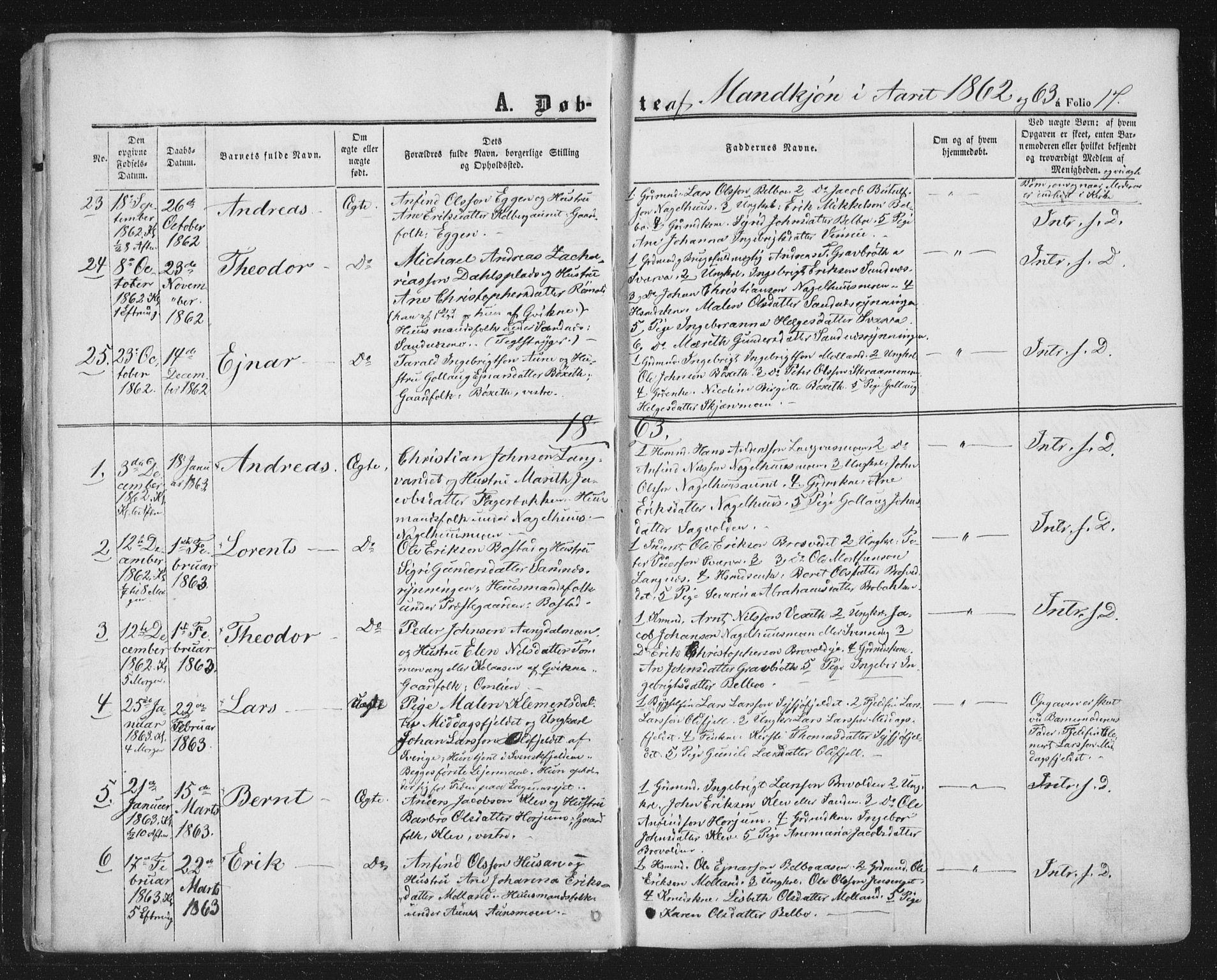 SAT, Ministerialprotokoller, klokkerbøker og fødselsregistre - Nord-Trøndelag, 749/L0472: Ministerialbok nr. 749A06, 1857-1873, s. 17