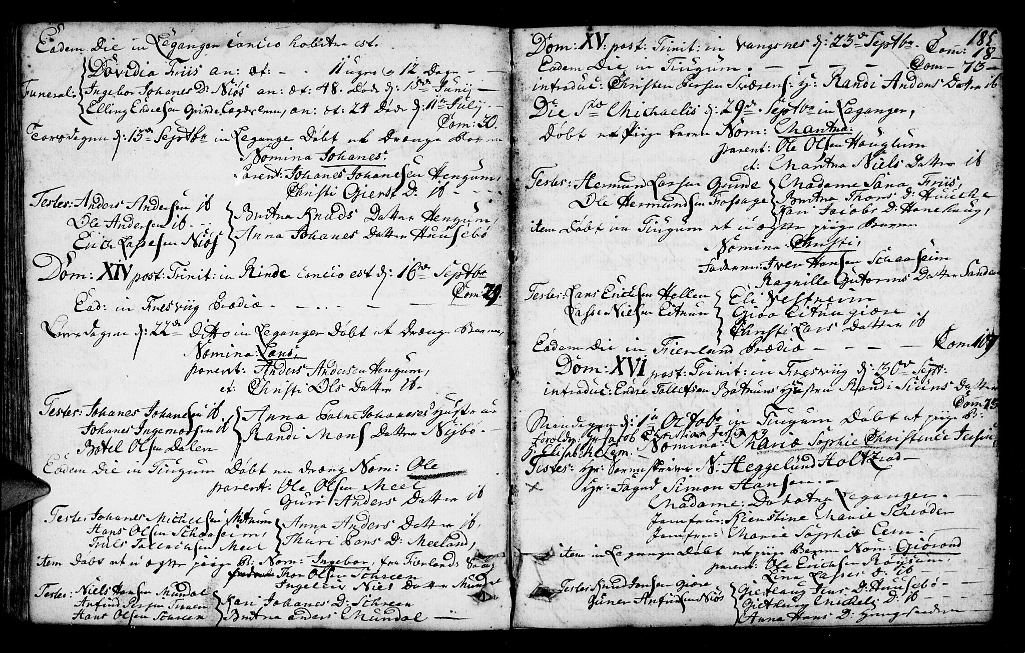 SAB, Leikanger Sokneprestembete, Ministerialbok nr. A 3, 1756-1770, s. 185