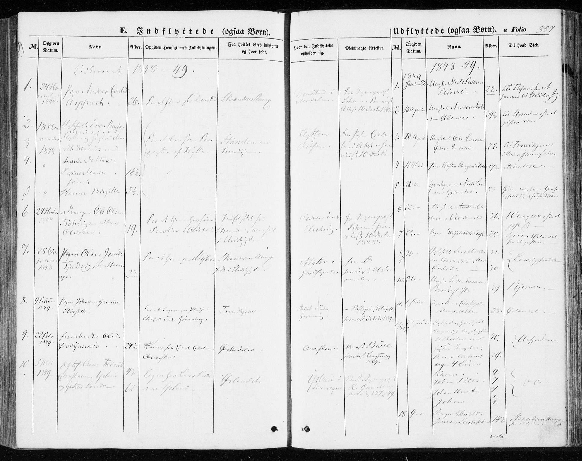 SAT, Ministerialprotokoller, klokkerbøker og fødselsregistre - Sør-Trøndelag, 646/L0611: Ministerialbok nr. 646A09, 1848-1857, s. 357