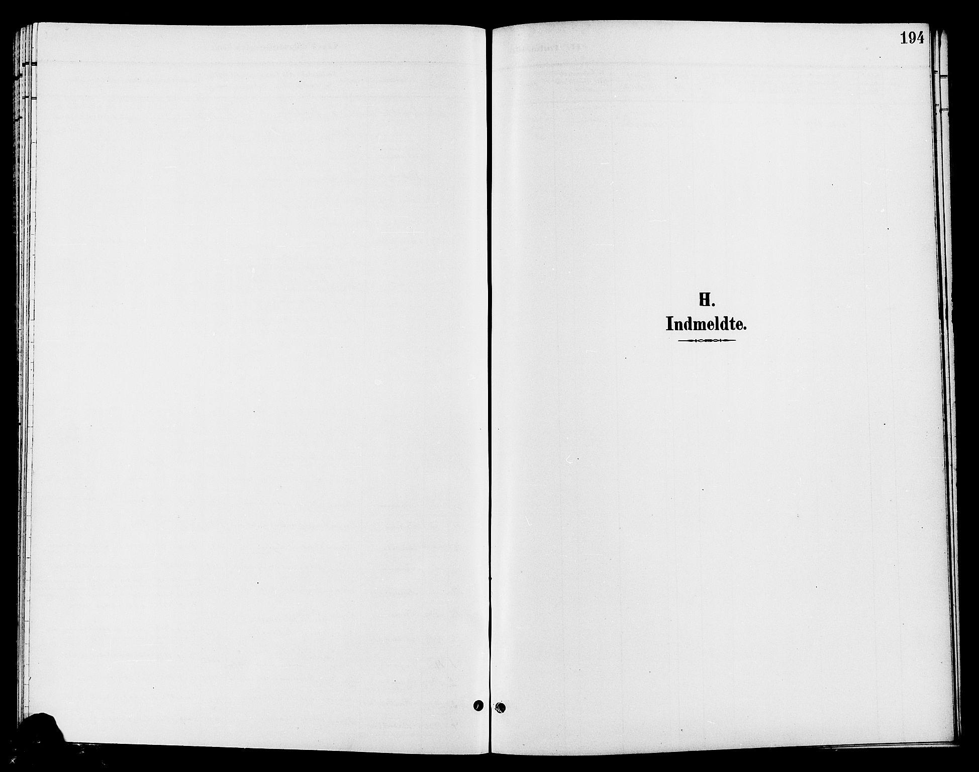 SAH, Jevnaker prestekontor, Klokkerbok nr. 3, 1896-1909, s. 194