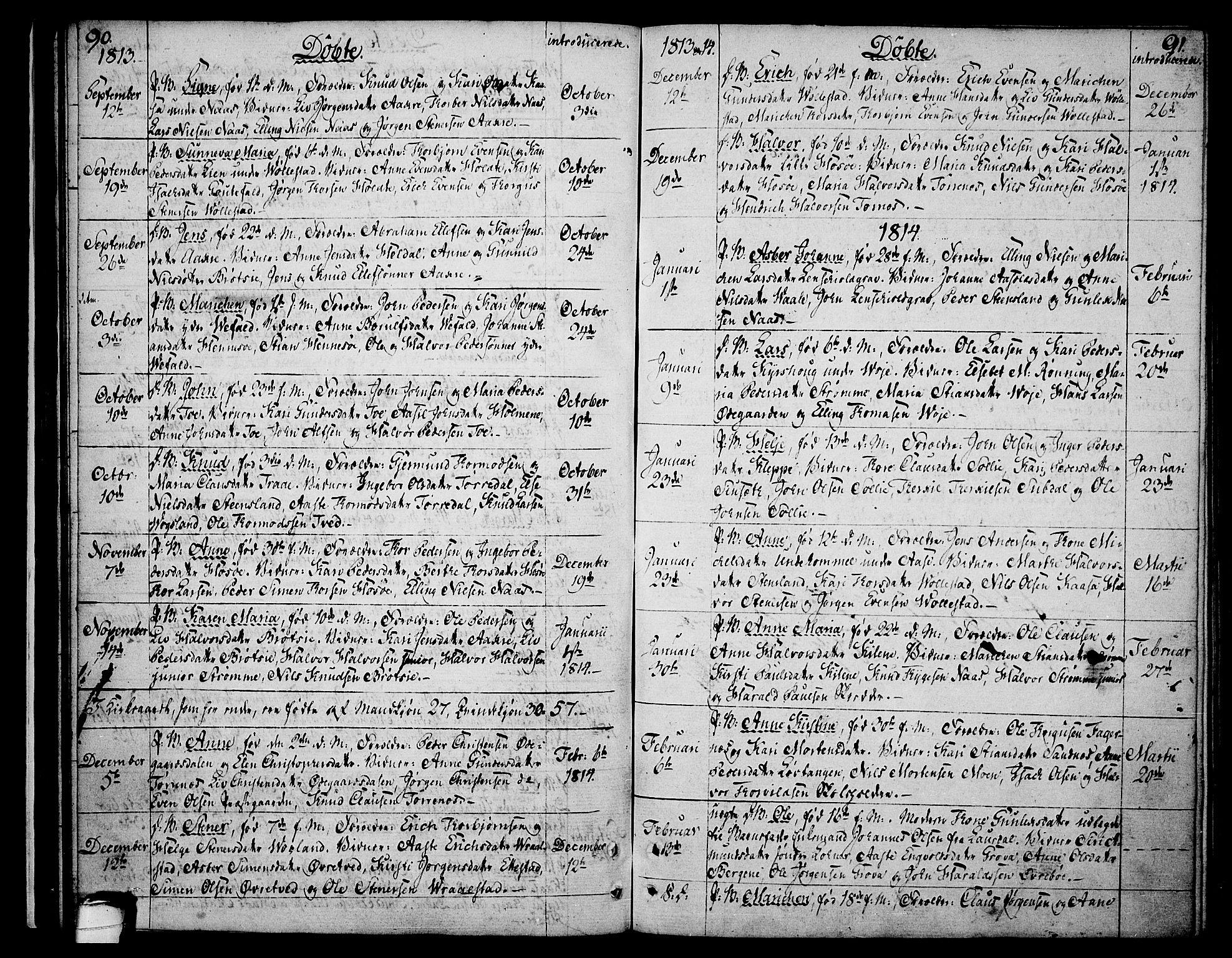 SAKO, Drangedal kirkebøker, F/Fa/L0004: Ministerialbok nr. 4, 1802-1814, s. 90-91