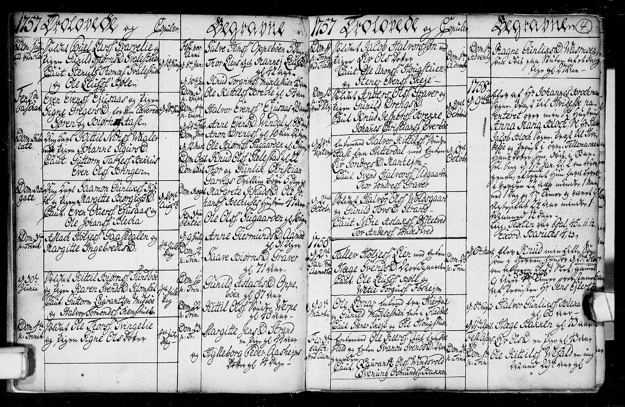 SAKO, Seljord kirkebøker, F/Fa/L0008: Ministerialbok nr. I 8, 1755-1814, s. 4