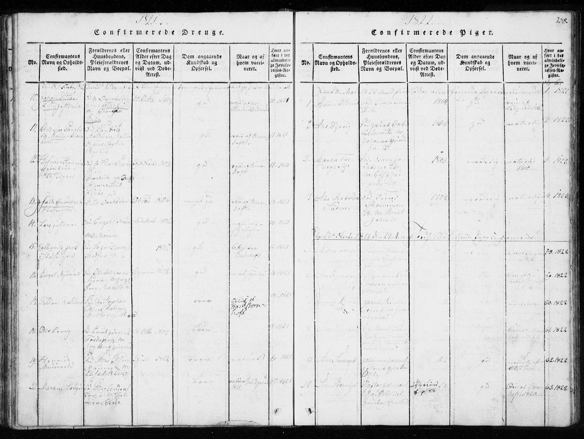 SAT, Ministerialprotokoller, klokkerbøker og fødselsregistre - Sør-Trøndelag, 634/L0527: Ministerialbok nr. 634A03, 1818-1826, s. 238