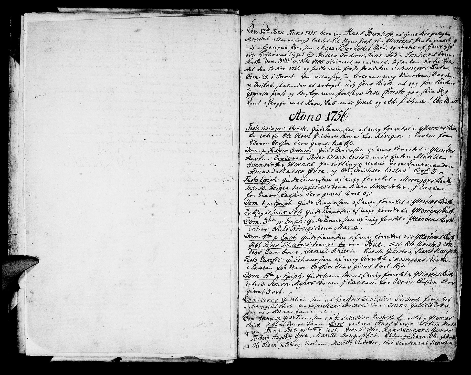 SAT, Ministerialprotokoller, klokkerbøker og fødselsregistre - Nord-Trøndelag, 722/L0216: Ministerialbok nr. 722A03, 1756-1816, s. 2