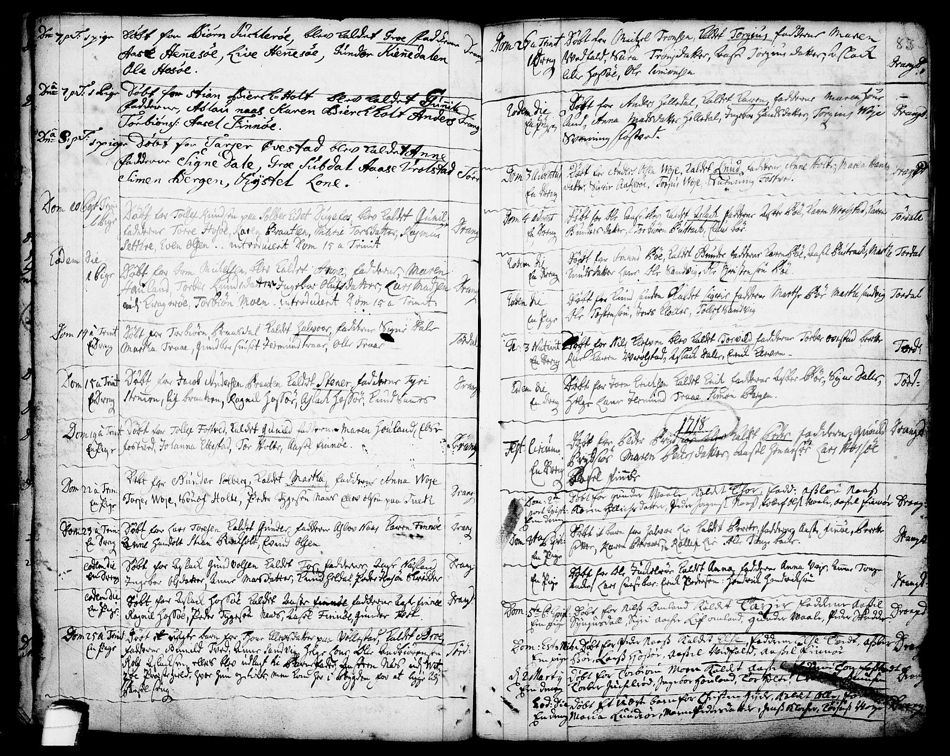 SAKO, Drangedal kirkebøker, F/Fa/L0001: Ministerialbok nr. 1, 1697-1767, s. 83