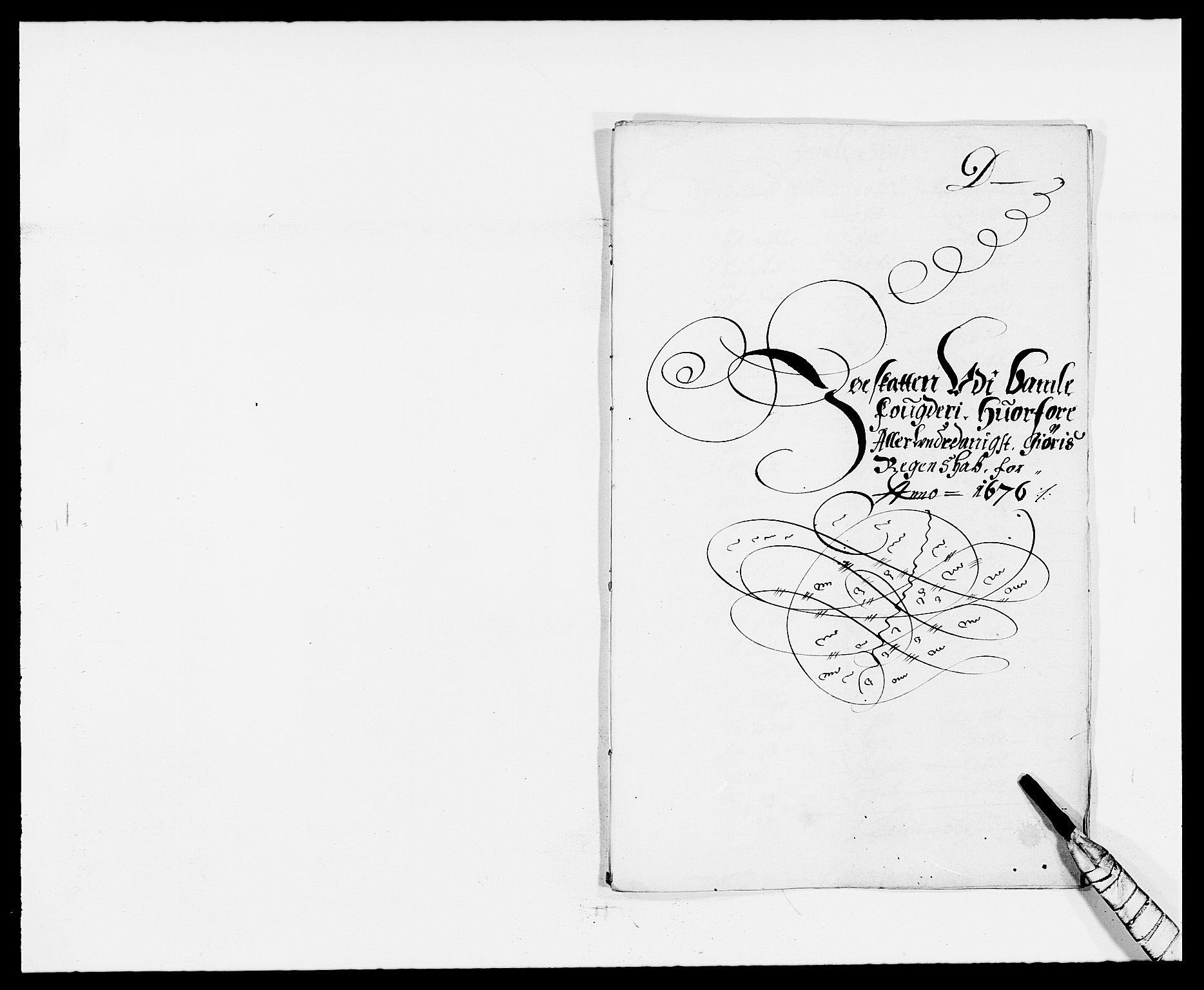 RA, Rentekammeret inntil 1814, Reviderte regnskaper, Fogderegnskap, R34/L2043: Fogderegnskap Bamble, 1676-1677, s. 88