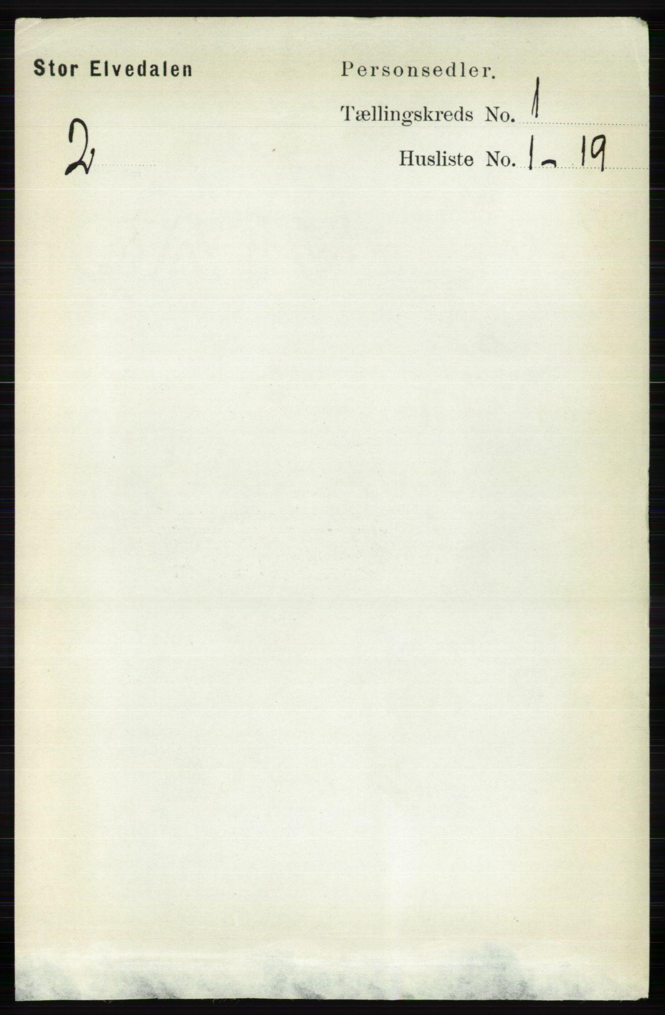RA, Folketelling 1891 for 0430 Stor-Elvdal herred, 1891, s. 70