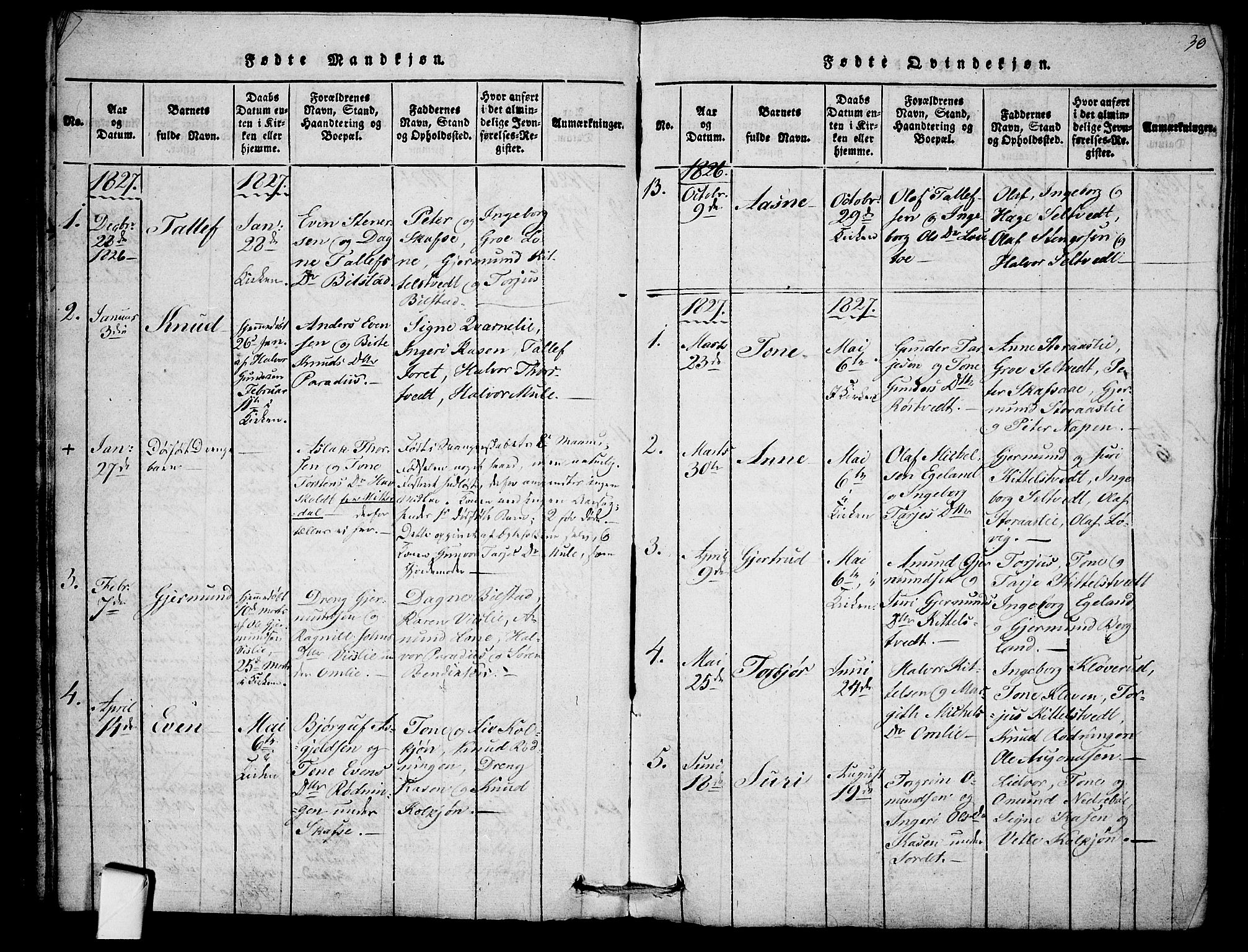 SAKO, Mo kirkebøker, F/Fb/L0001: Ministerialbok nr. II 1, 1814-1844, s. 30