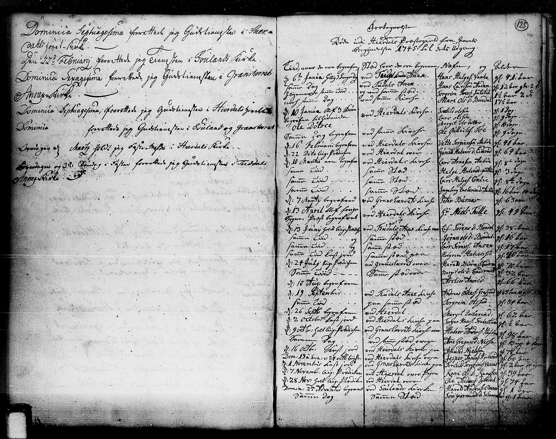 SAKO, Hjartdal kirkebøker, F/Fa/L0003: Ministerialbok nr. I 3, 1727-1775, s. 125