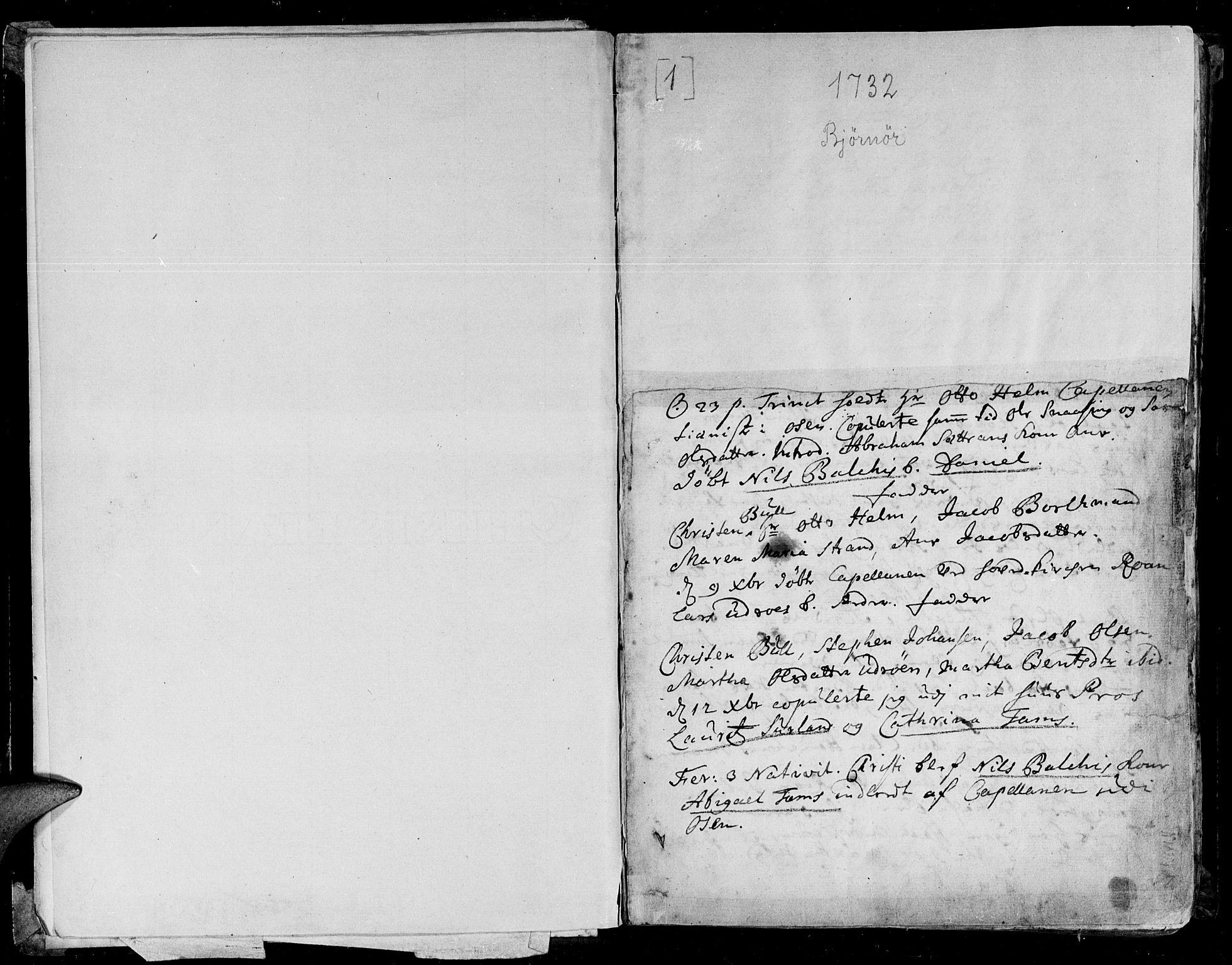 SAT, Ministerialprotokoller, klokkerbøker og fødselsregistre - Sør-Trøndelag, 657/L0700: Ministerialbok nr. 657A01, 1732-1801, s. 0-1