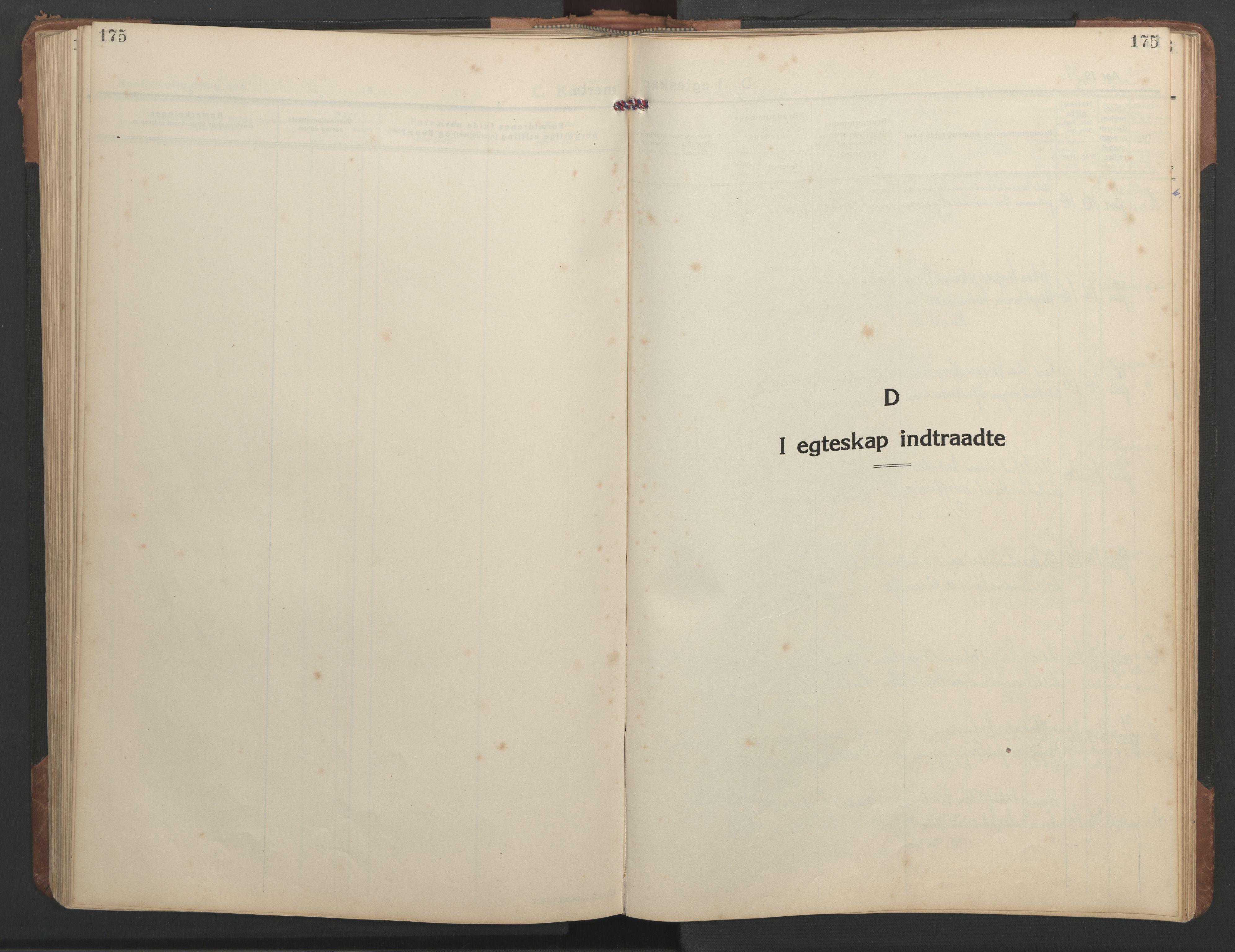 SAT, Ministerialprotokoller, klokkerbøker og fødselsregistre - Sør-Trøndelag, 638/L0569: Klokkerbok nr. 638C01, 1923-1961, s. 175