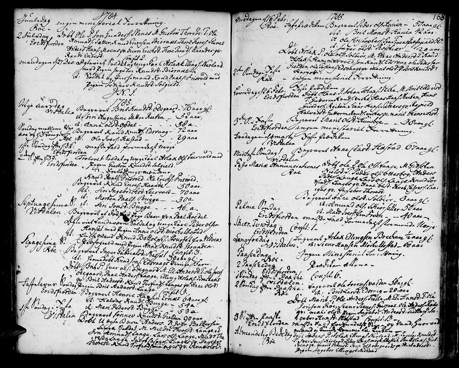 SAT, Ministerialprotokoller, klokkerbøker og fødselsregistre - Møre og Romsdal, 551/L0621: Ministerialbok nr. 551A01, 1757-1803, s. 168