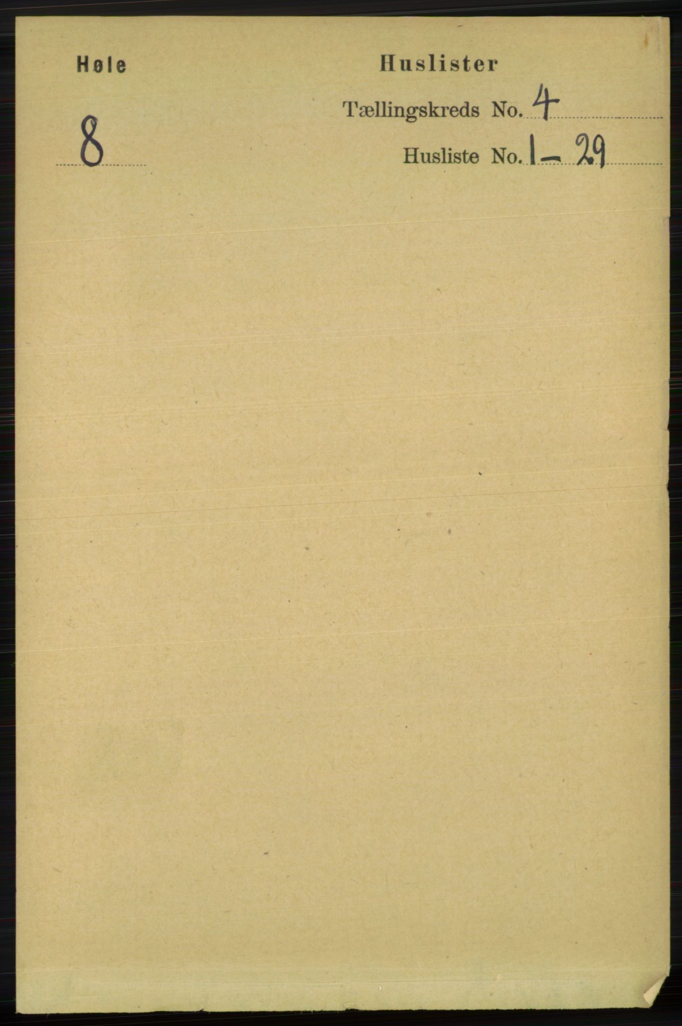 RA, Folketelling 1891 for 1128 Høle herred, 1891, s. 815