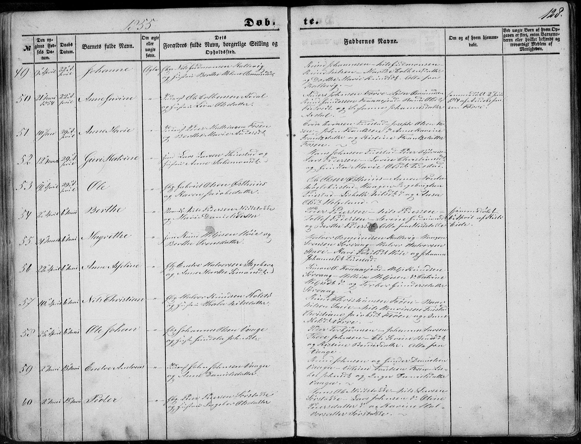 SAST, Avaldsnes sokneprestkontor, H/Ha/Haa/L0008: Ministerialbok nr. A 8, 1847-1857, s. 128