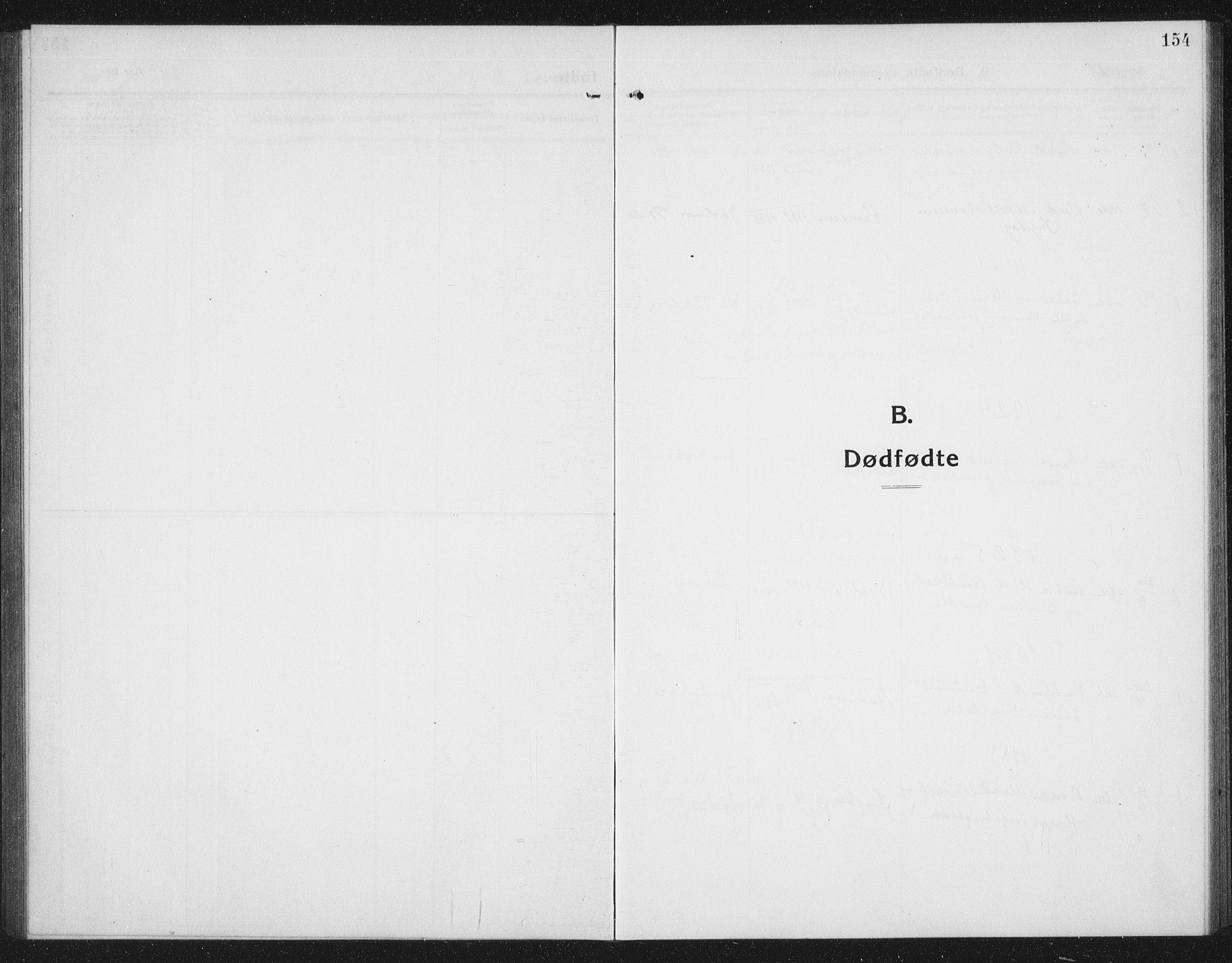 SAT, Ministerialprotokoller, klokkerbøker og fødselsregistre - Sør-Trøndelag, 674/L0877: Klokkerbok nr. 674C04, 1913-1940, s. 154