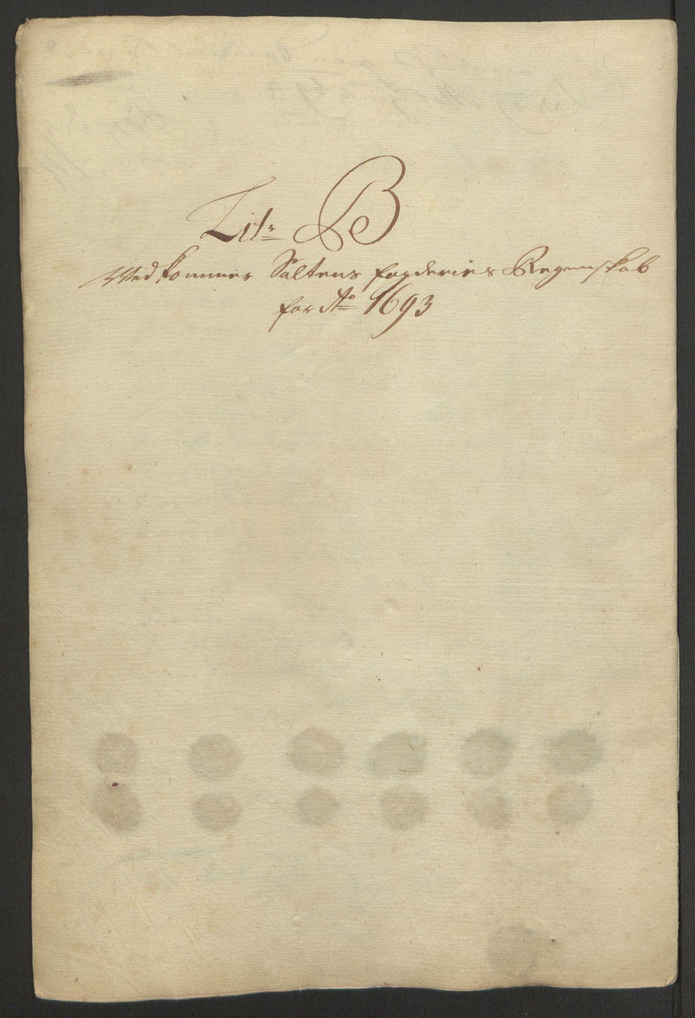 RA, Rentekammeret inntil 1814, Reviderte regnskaper, Fogderegnskap, R66/L4577: Fogderegnskap Salten, 1691-1693, s. 297