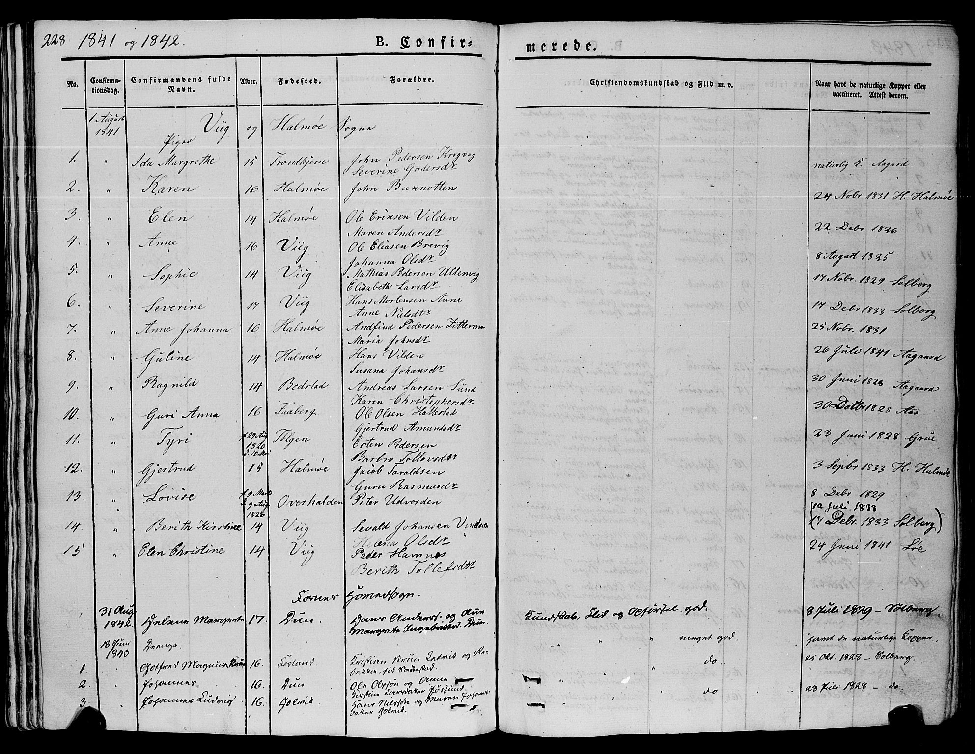 SAT, Ministerialprotokoller, klokkerbøker og fødselsregistre - Nord-Trøndelag, 773/L0614: Ministerialbok nr. 773A05, 1831-1856, s. 228