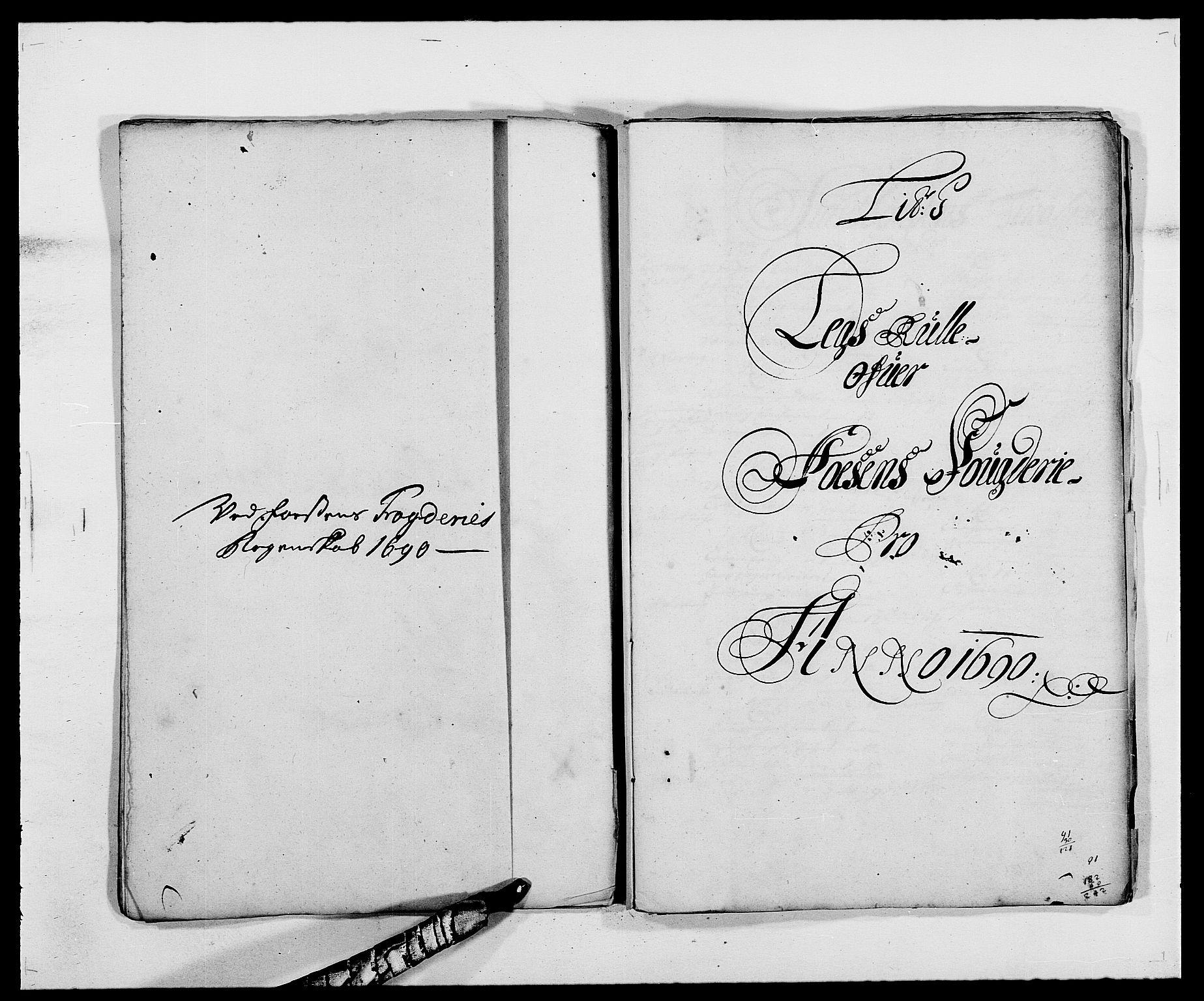 RA, Rentekammeret inntil 1814, Reviderte regnskaper, Fogderegnskap, R57/L3848: Fogderegnskap Fosen, 1690-1691, s. 101