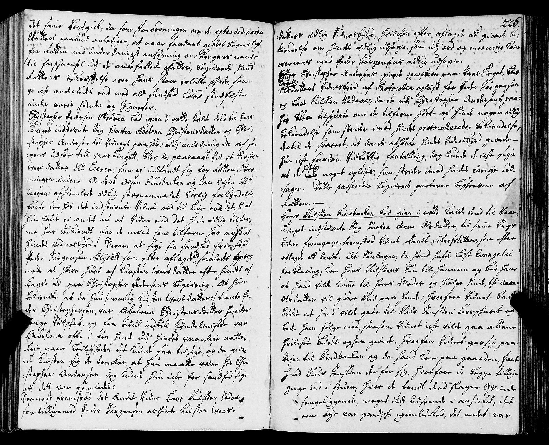 SAT, Helgeland sorenskriveri, 1/1A/L0005: Tingbok 6, 1717-1723, s. 225b-226a