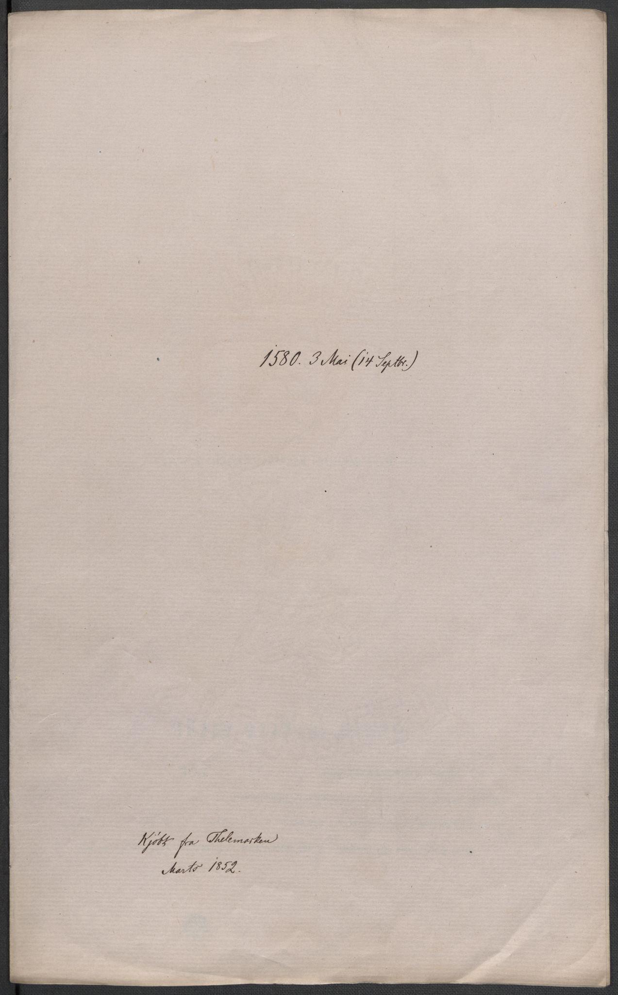 RA, Riksarkivets diplomsamling, F02/L0082: Dokumenter, 1580, s. 18