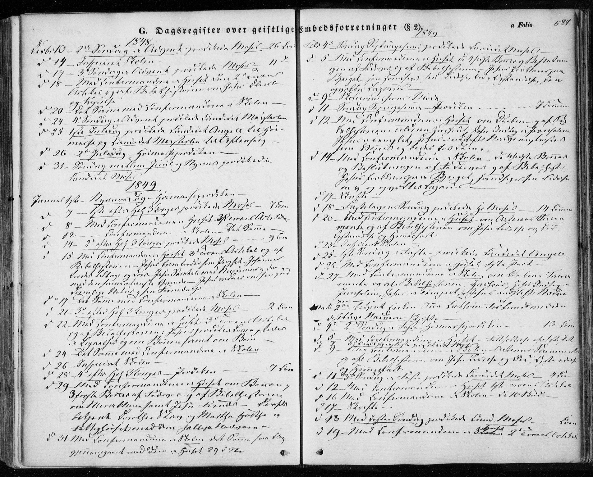 SAT, Ministerialprotokoller, klokkerbøker og fødselsregistre - Sør-Trøndelag, 601/L0051: Ministerialbok nr. 601A19, 1848-1857, s. 587