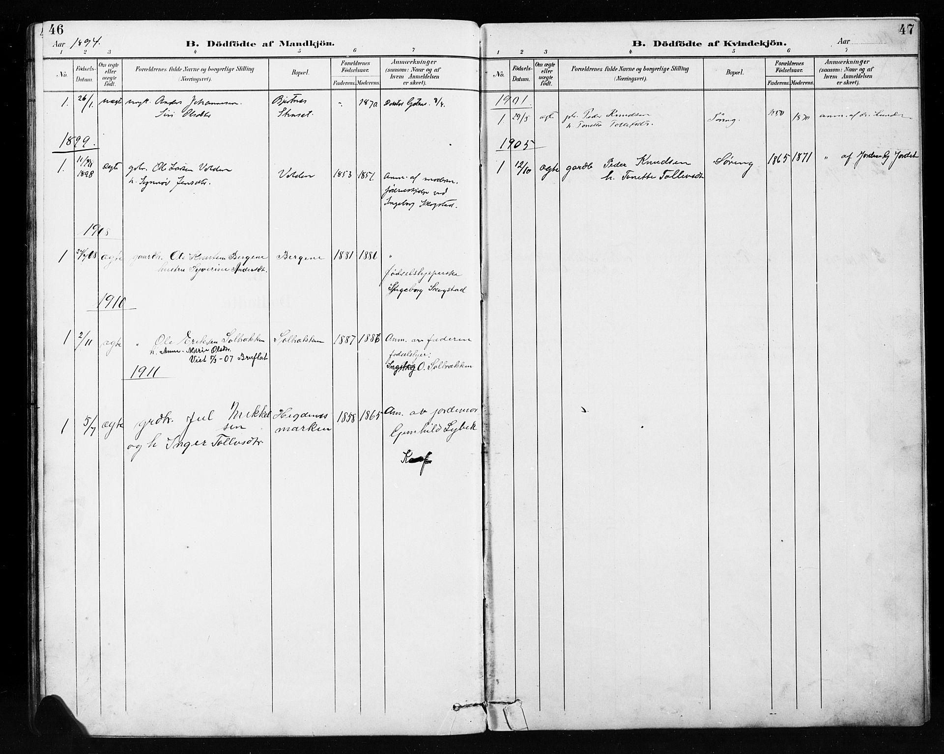 SAH, Etnedal prestekontor, H/Ha/Hab/Habb/L0001: Klokkerbok nr. II 1, 1894-1911, s. 46-47