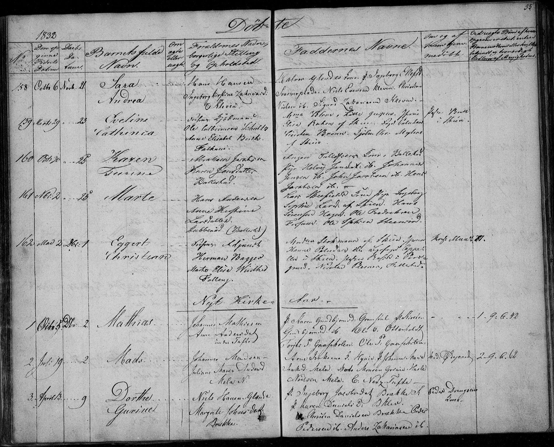 SAKO, Gjerpen kirkebøker, F/Fa/L0006: Ministerialbok nr. 6, 1829-1834, s. 55