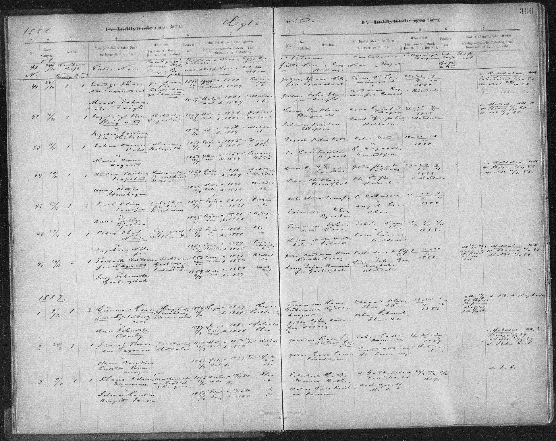 SAT, Ministerialprotokoller, klokkerbøker og fødselsregistre - Sør-Trøndelag, 603/L0163: Ministerialbok nr. 603A02, 1879-1895, s. 306