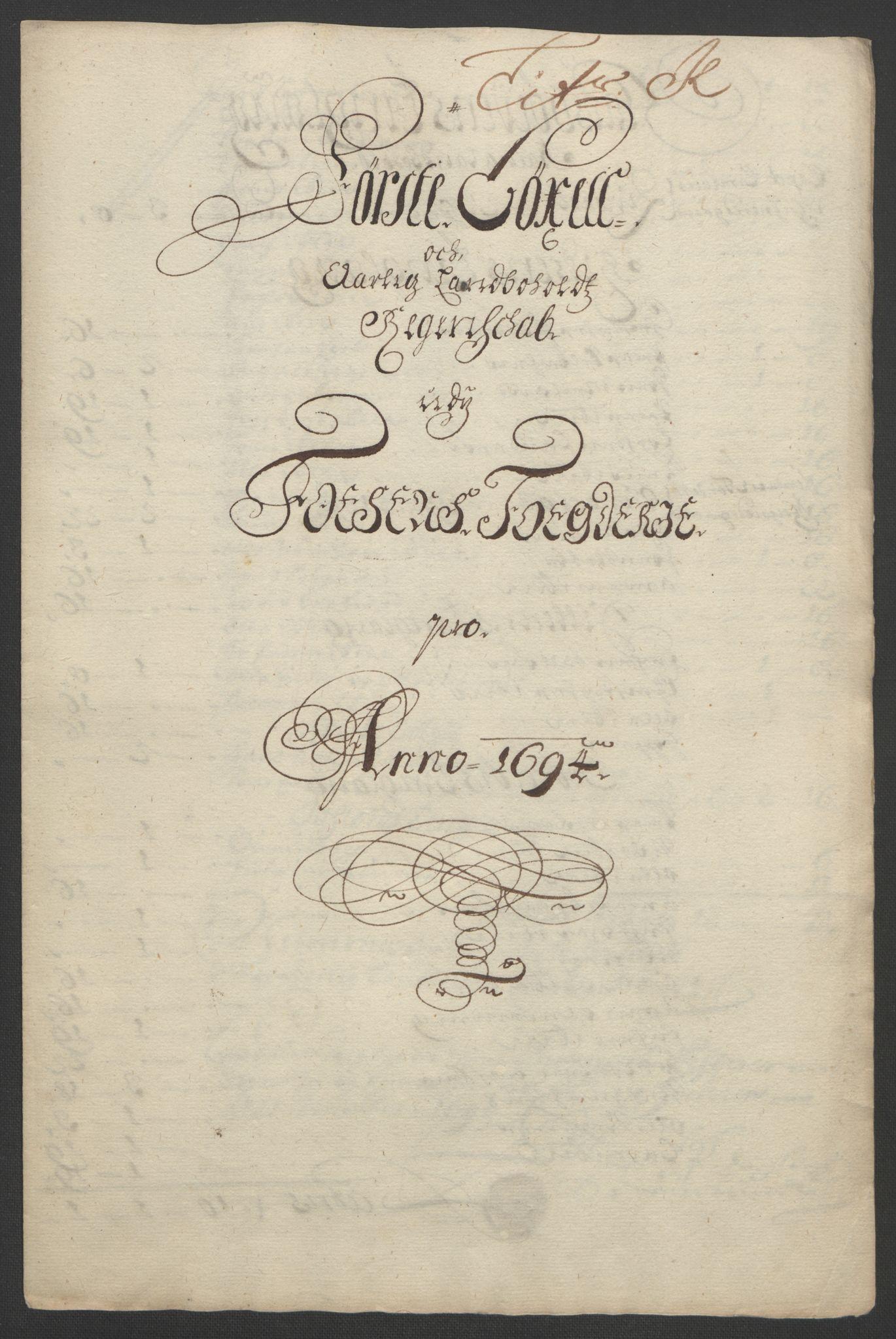 RA, Rentekammeret inntil 1814, Reviderte regnskaper, Fogderegnskap, R57/L3850: Fogderegnskap Fosen, 1694, s. 146