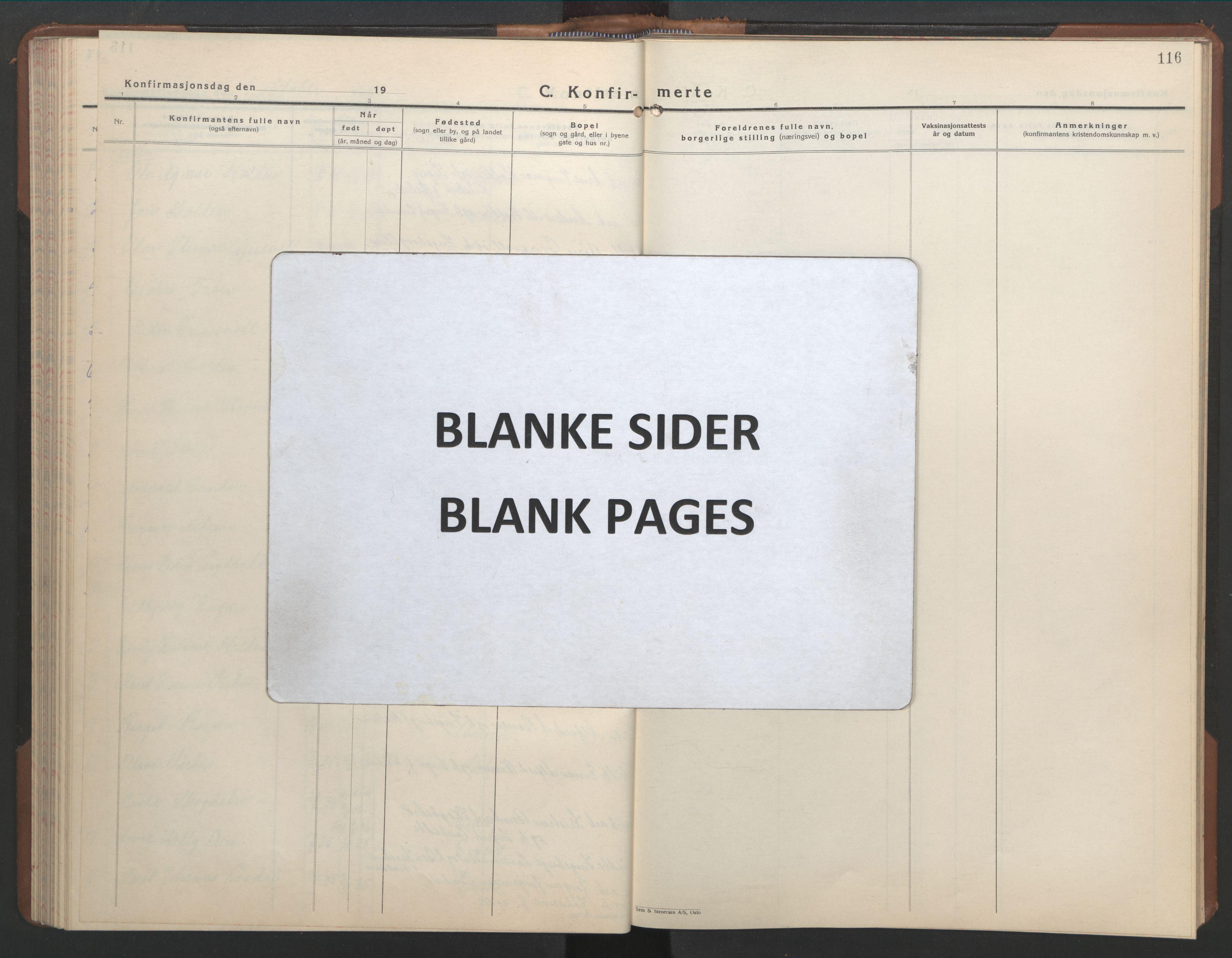 SAT, Ministerialprotokoller, klokkerbøker og fødselsregistre - Sør-Trøndelag, 686/L0986: Klokkerbok nr. 686C02, 1933-1950, s. 116
