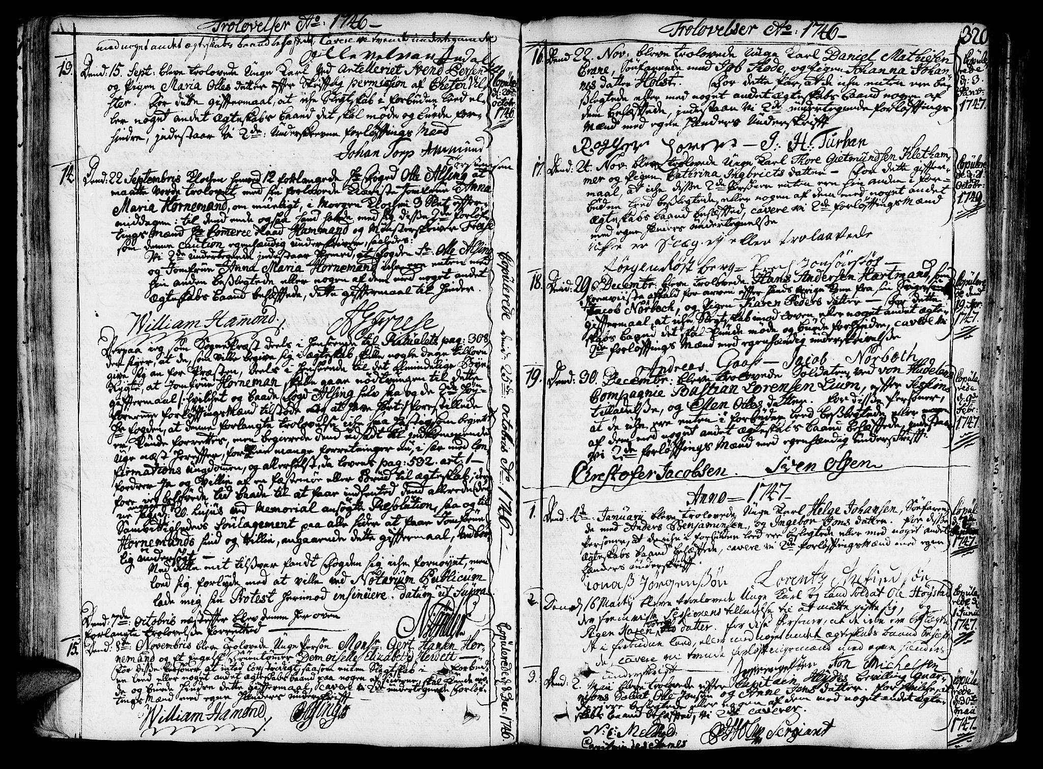 SAT, Ministerialprotokoller, klokkerbøker og fødselsregistre - Sør-Trøndelag, 602/L0103: Ministerialbok nr. 602A01, 1732-1774, s. 320