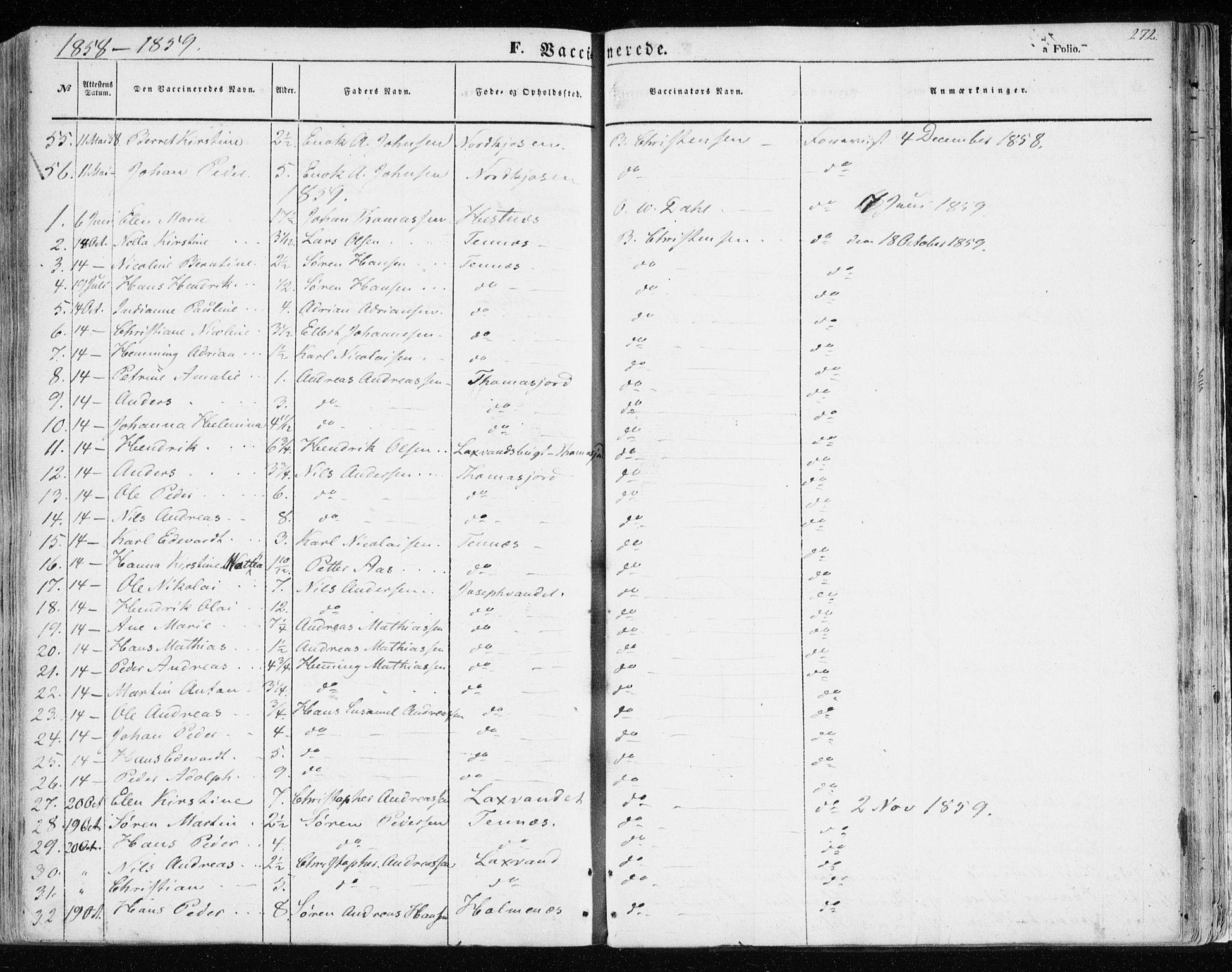 SATØ, Balsfjord sokneprestembete, Ministerialbok nr. 3, 1856-1870, s. 272