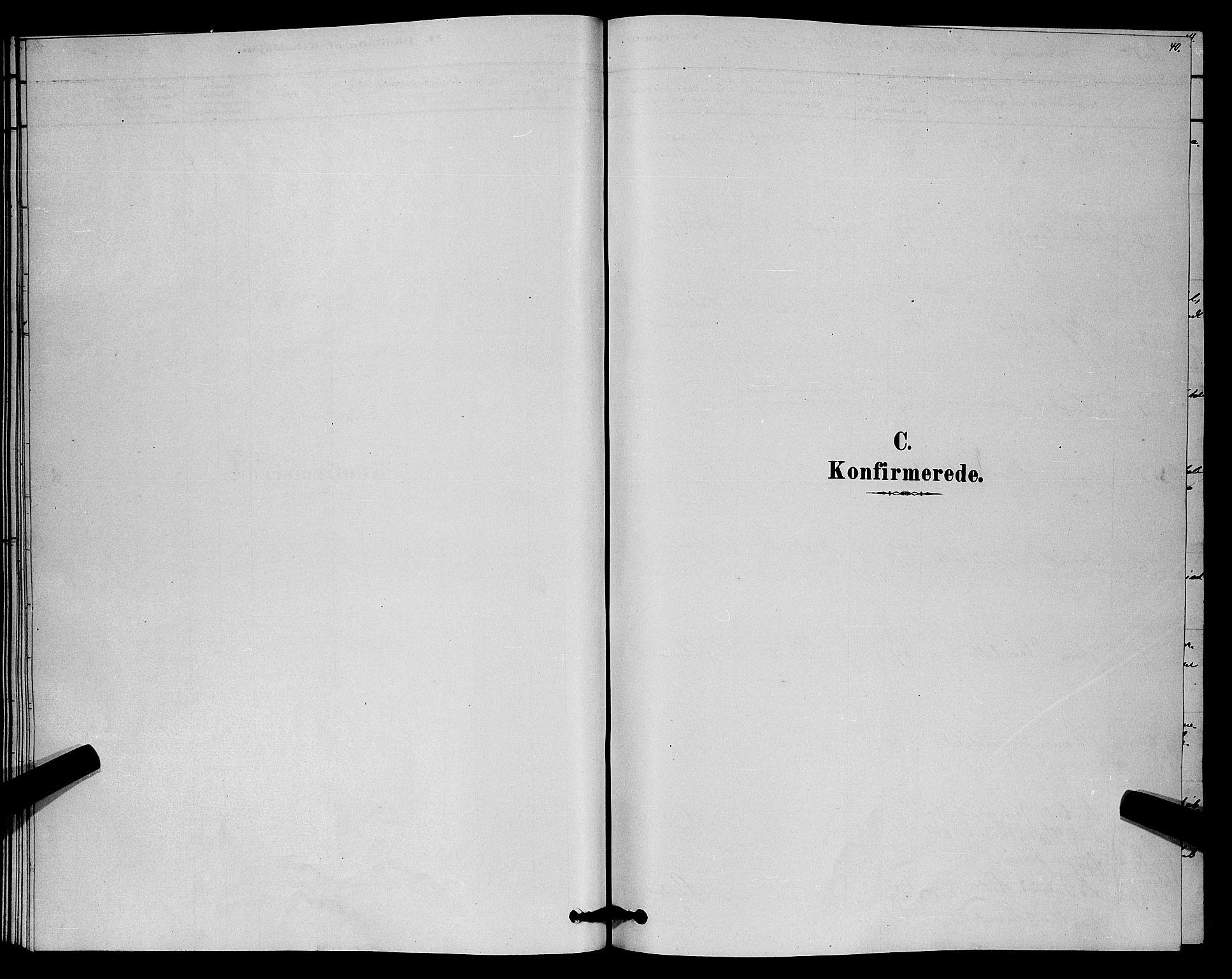 SAKO, Lårdal kirkebøker, G/Gc/L0003: Klokkerbok nr. III 3, 1878-1890, s. 40
