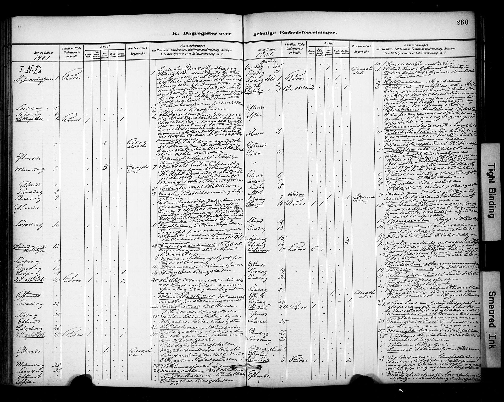 SAT, Ministerialprotokoller, klokkerbøker og fødselsregistre - Sør-Trøndelag, 681/L0936: Ministerialbok nr. 681A14, 1899-1908, s. 260