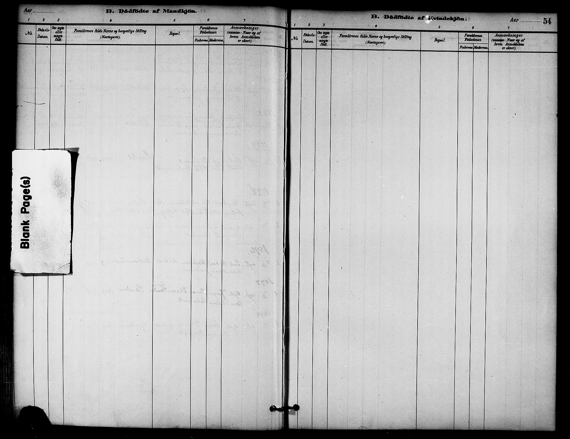 SAT, Ministerialprotokoller, klokkerbøker og fødselsregistre - Nord-Trøndelag, 766/L0563: Ministerialbok nr. 767A01, 1881-1899, s. 54