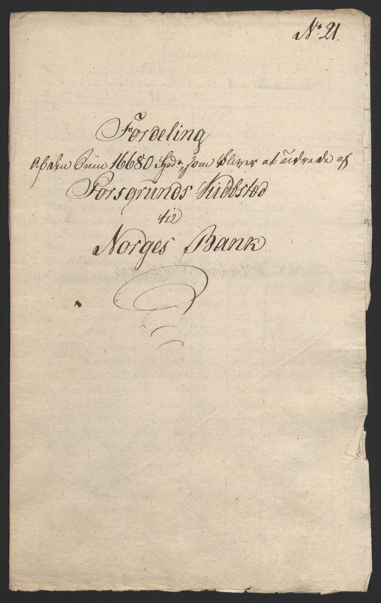 NOBA, Norges Bank/Sølvskatten 1816*, 1816-1823, s. 10