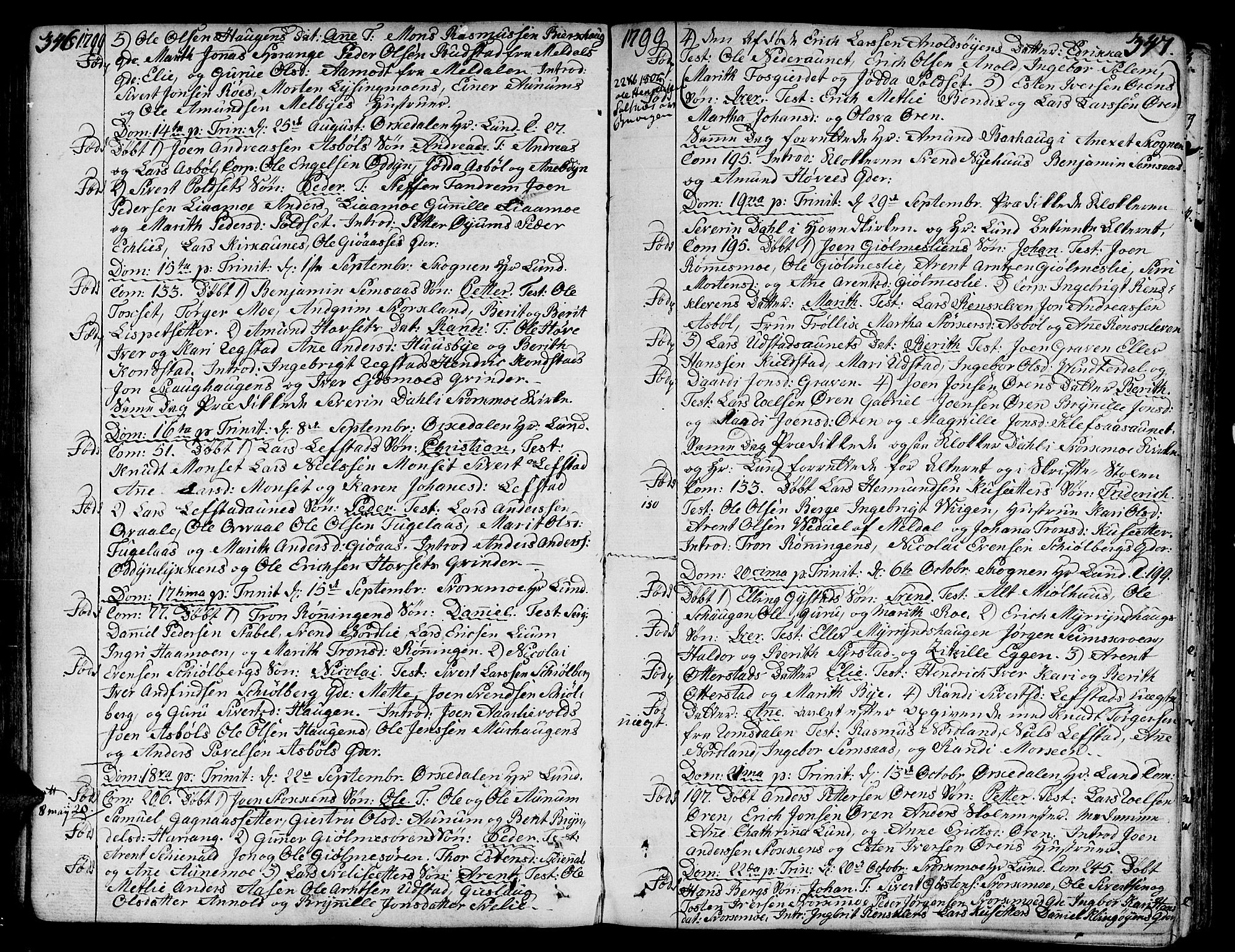 SAT, Ministerialprotokoller, klokkerbøker og fødselsregistre - Sør-Trøndelag, 668/L0802: Ministerialbok nr. 668A02, 1776-1799, s. 346-347