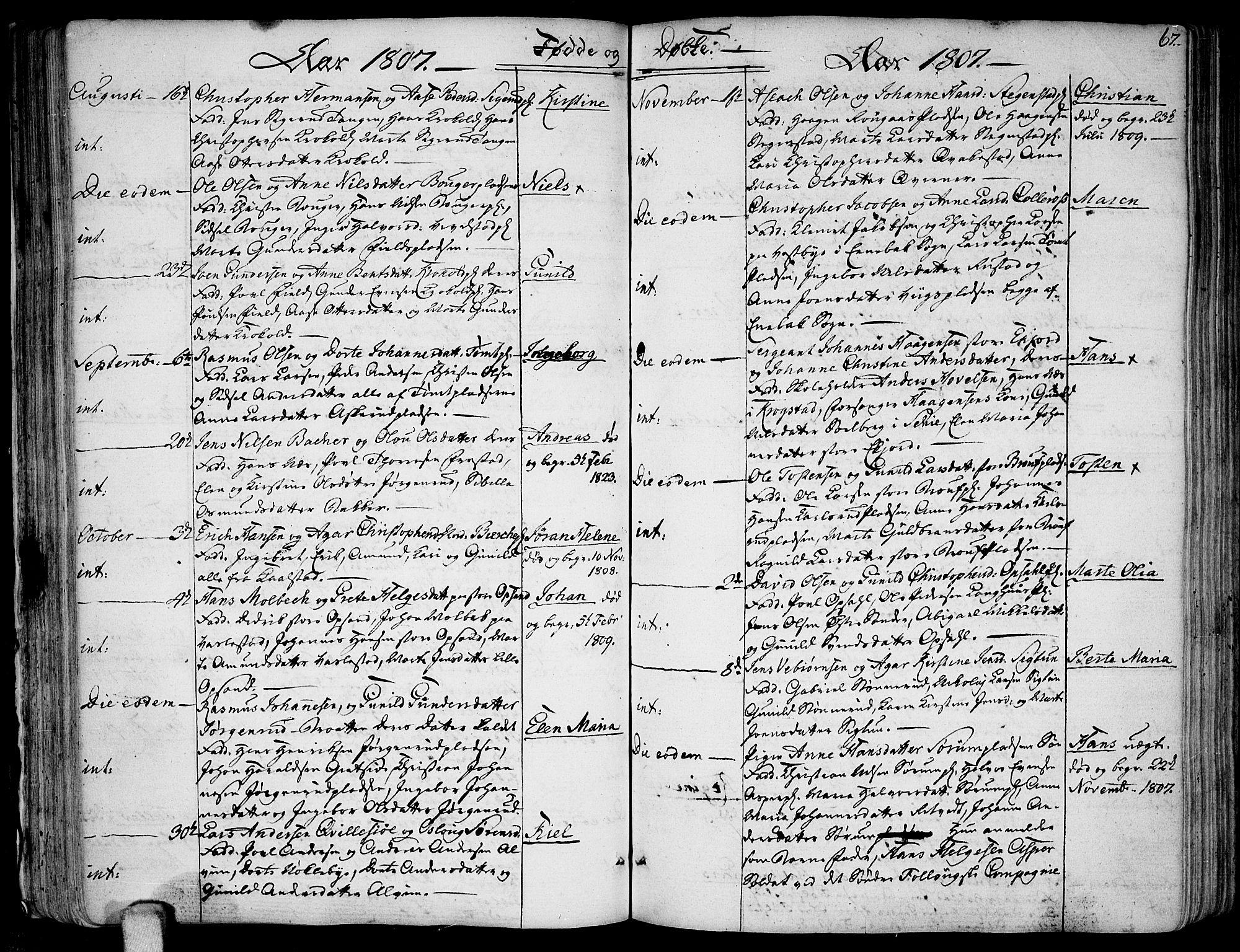 SAO, Kråkstad prestekontor Kirkebøker, F/Fa/L0002: Ministerialbok nr. I 2, 1786-1814, s. 67